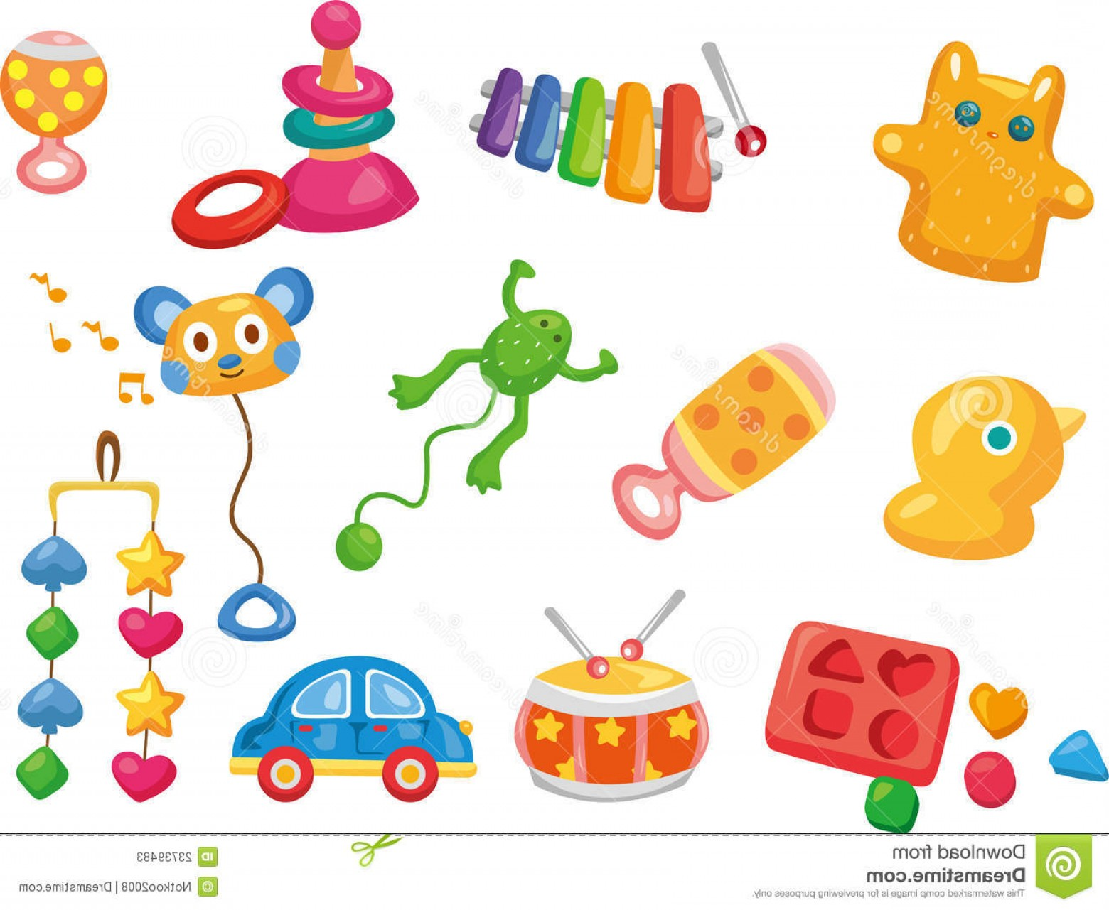 Baby Toy Vector: Stock Photos Vector Toy Icons Baby Toys Image