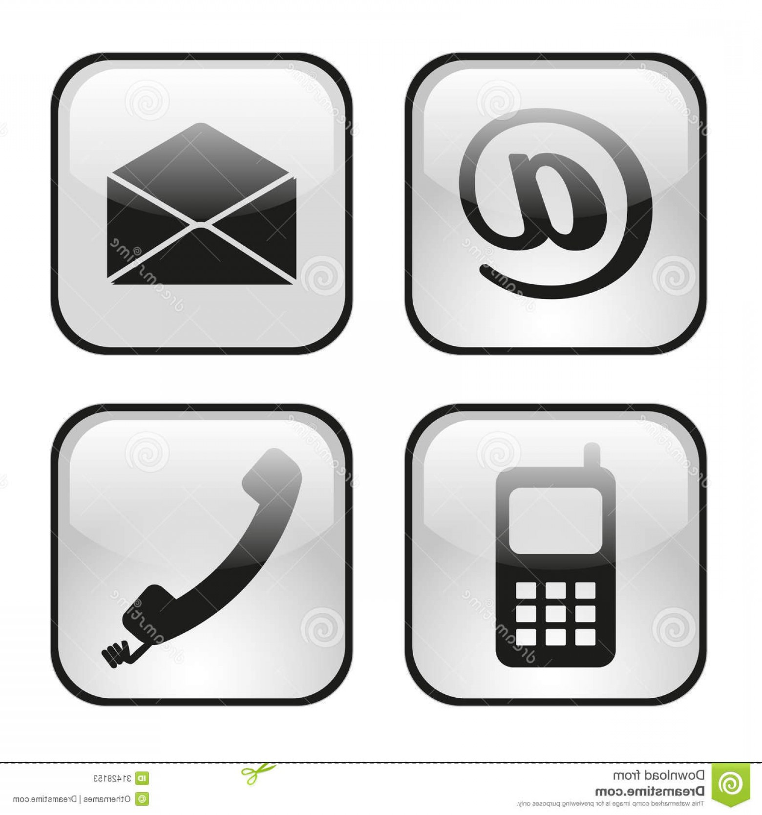 Contact Button Icons Vector Free: Stock Photos Web Internet Icons Set Contact Buttons Email Envelope Phone Mobile Image