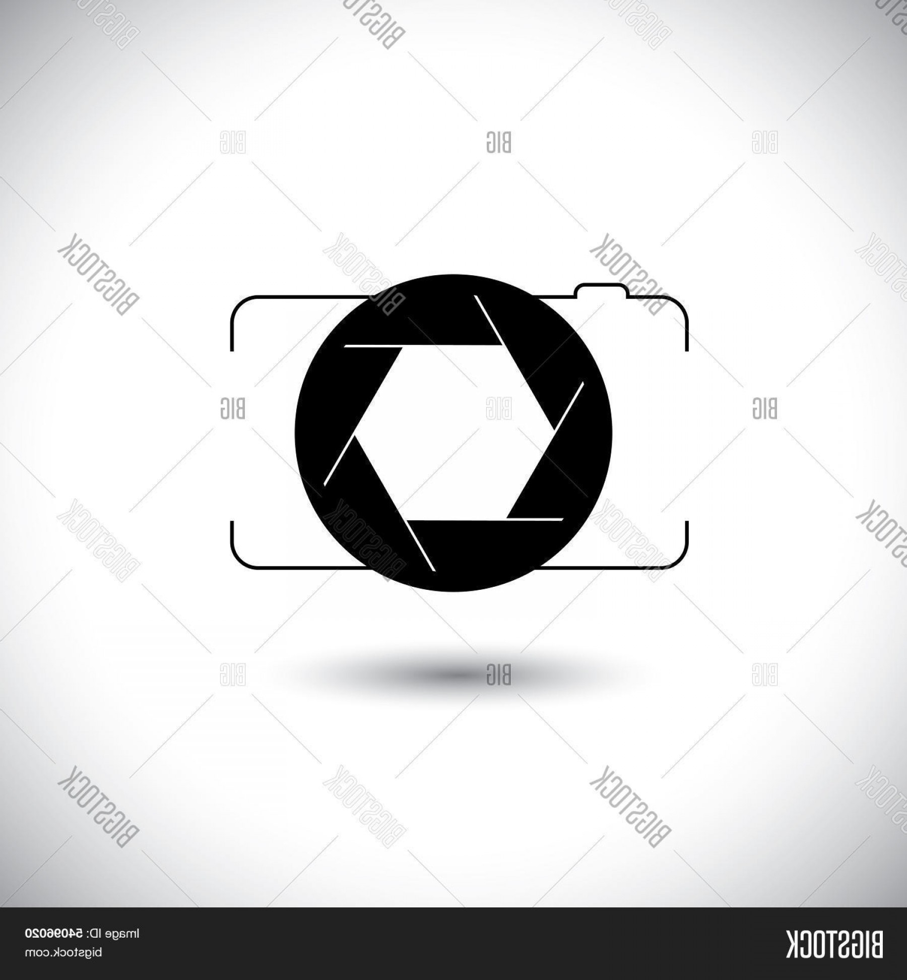 Abstract Football Vector Outline: Stock Vector Abstract Digital Camera Shutter Icon Outline Front View