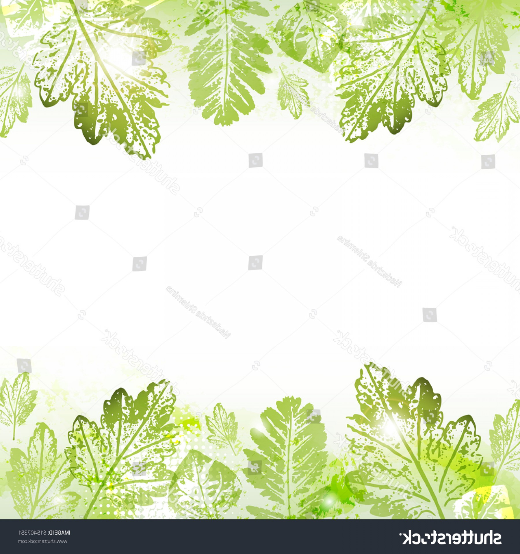 Firefly Serenity Vector: Stock Vector Abstract Spring Leaves Imprints Background With Space To Your Text