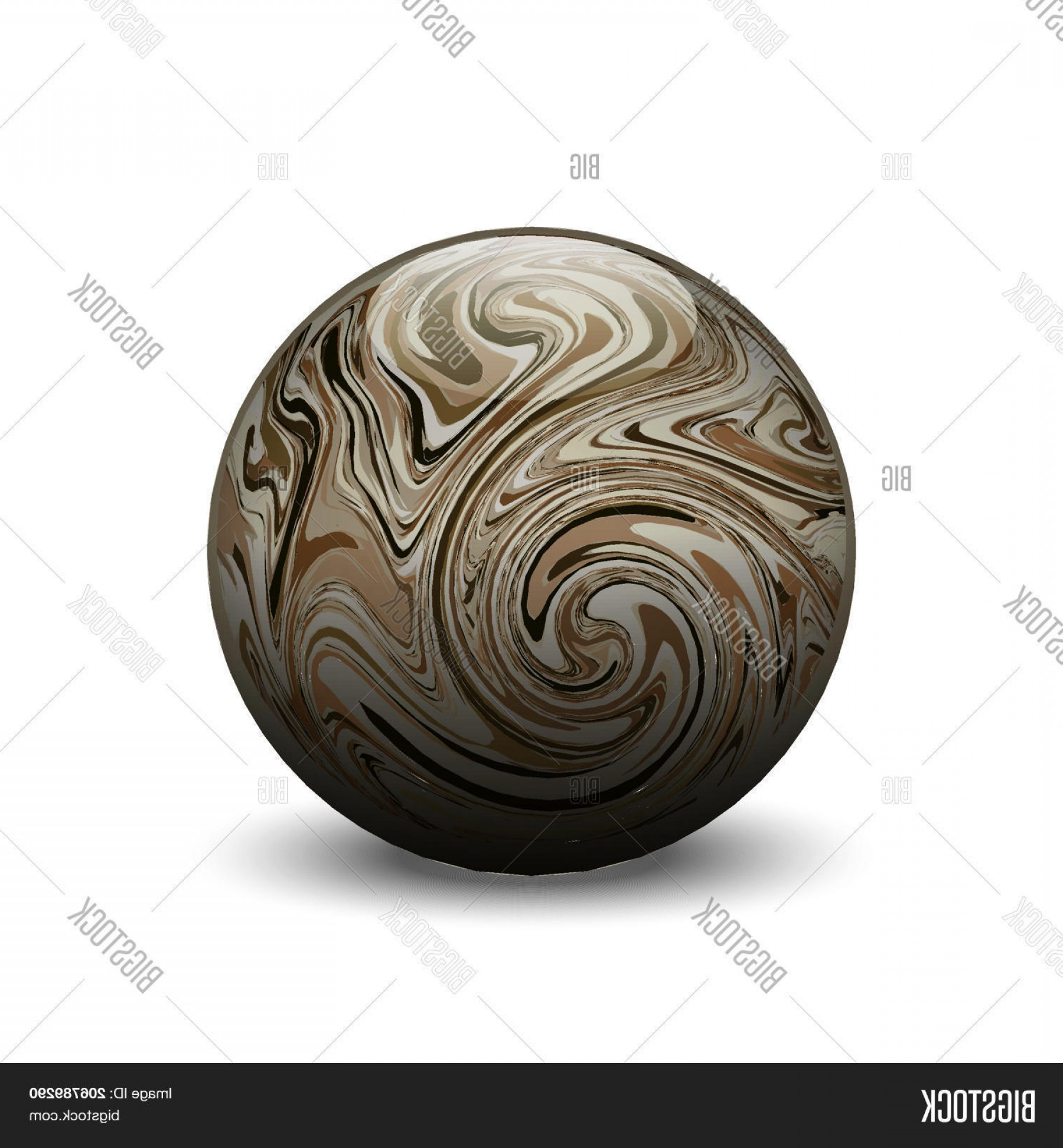 Vector Sphere Marble: Stock Vector Agate Stone Ballc Vector Semiprecious Gemstonec Round Cabochon With Marble Pattern On White