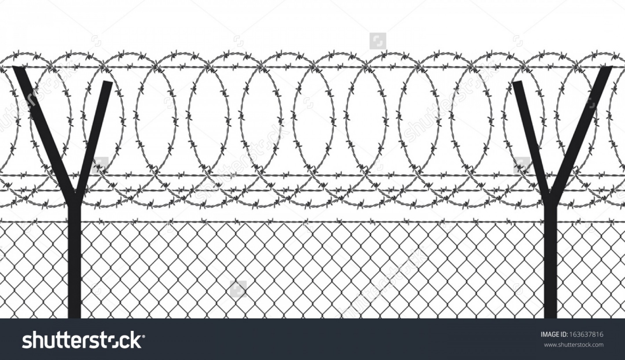 Fence Post Barbed Wire Vector Clip Art: Stock Vector Barbed Wire Fence Barbed Wire Fence Stock Vector Illustration Barb Wire Fence Unturned