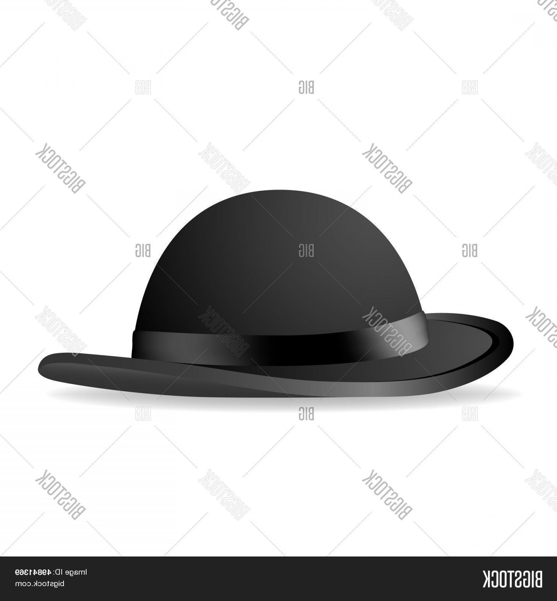 Bowler Hat Vector: Stock Vector Black Bowler Hat Vector Illustration