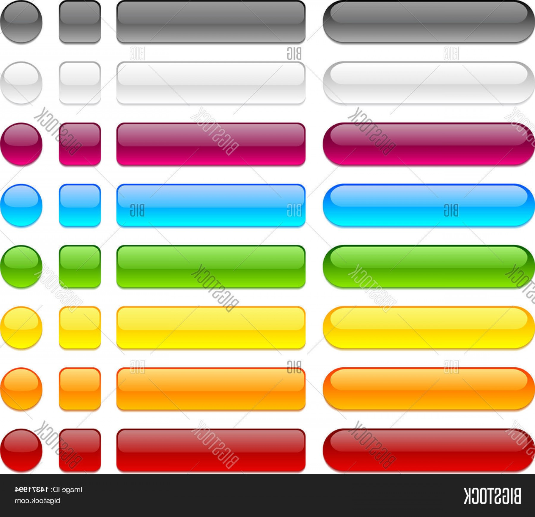Web Buttons Vector: Stock Vector Blank Web Buttons Vector Illustration