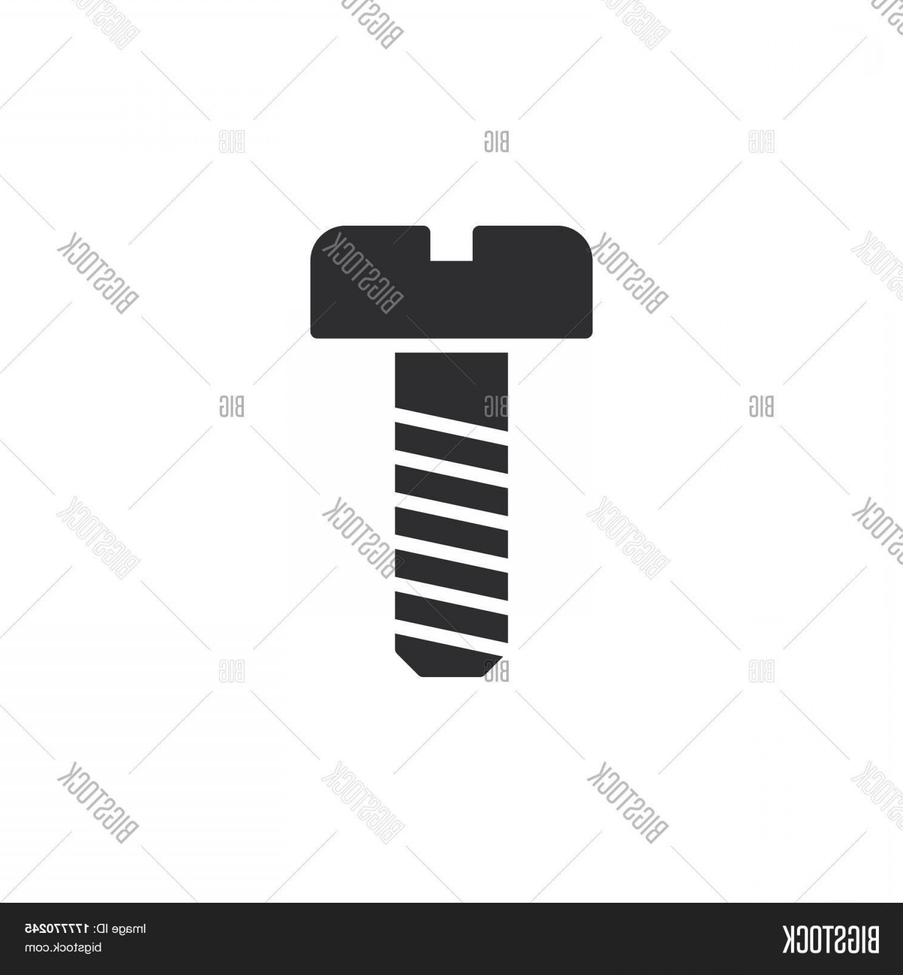 Screw Vector: Stock Vector Bolt Screw Icon Vector Filled Flat Sign Solid Pictogram Isolated On White Symbol Logo Illustration