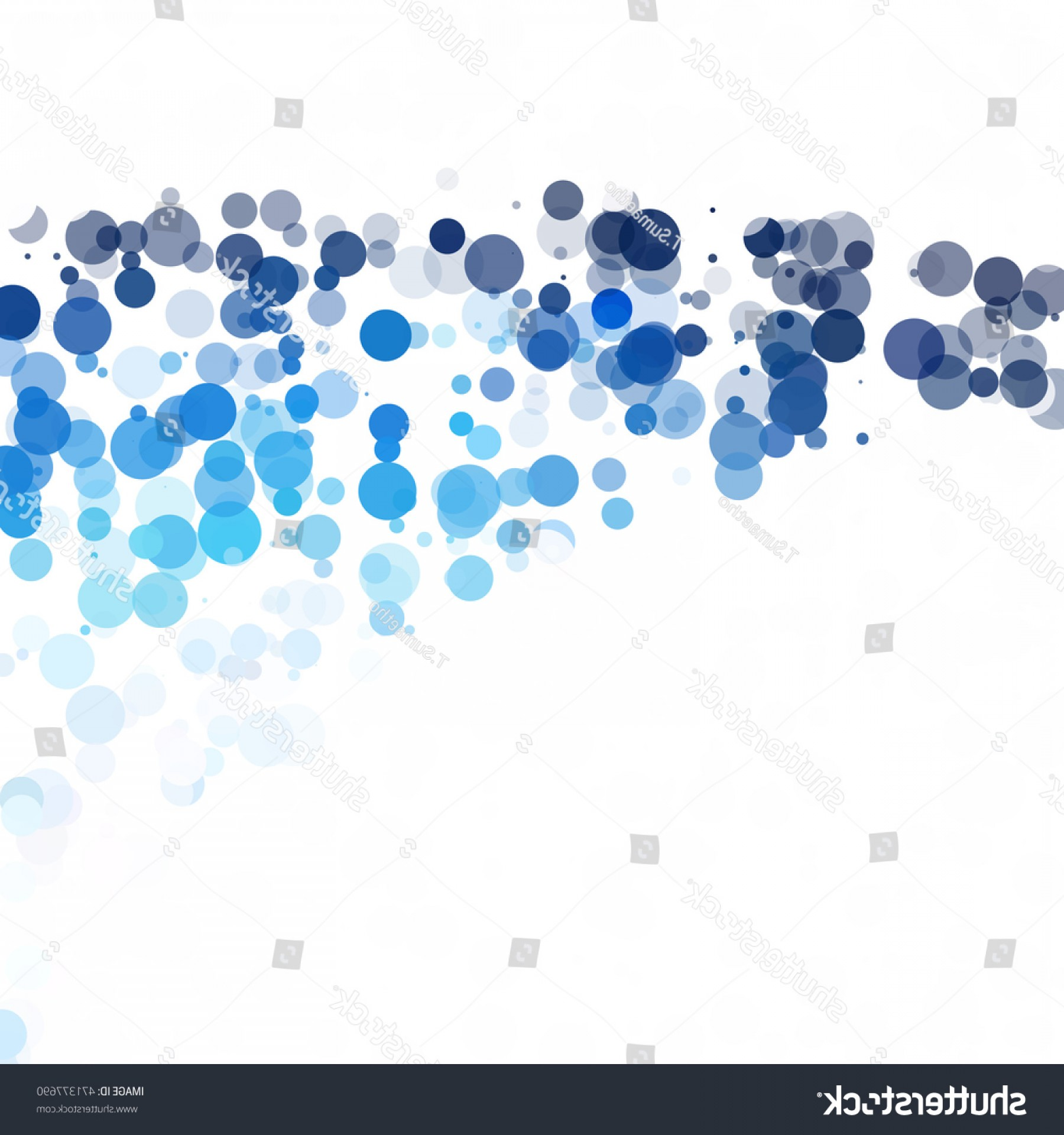 Vector Bubbles Circle: Stock Vector Bubbles Circle Dots Unique Blue Bright Vector Background