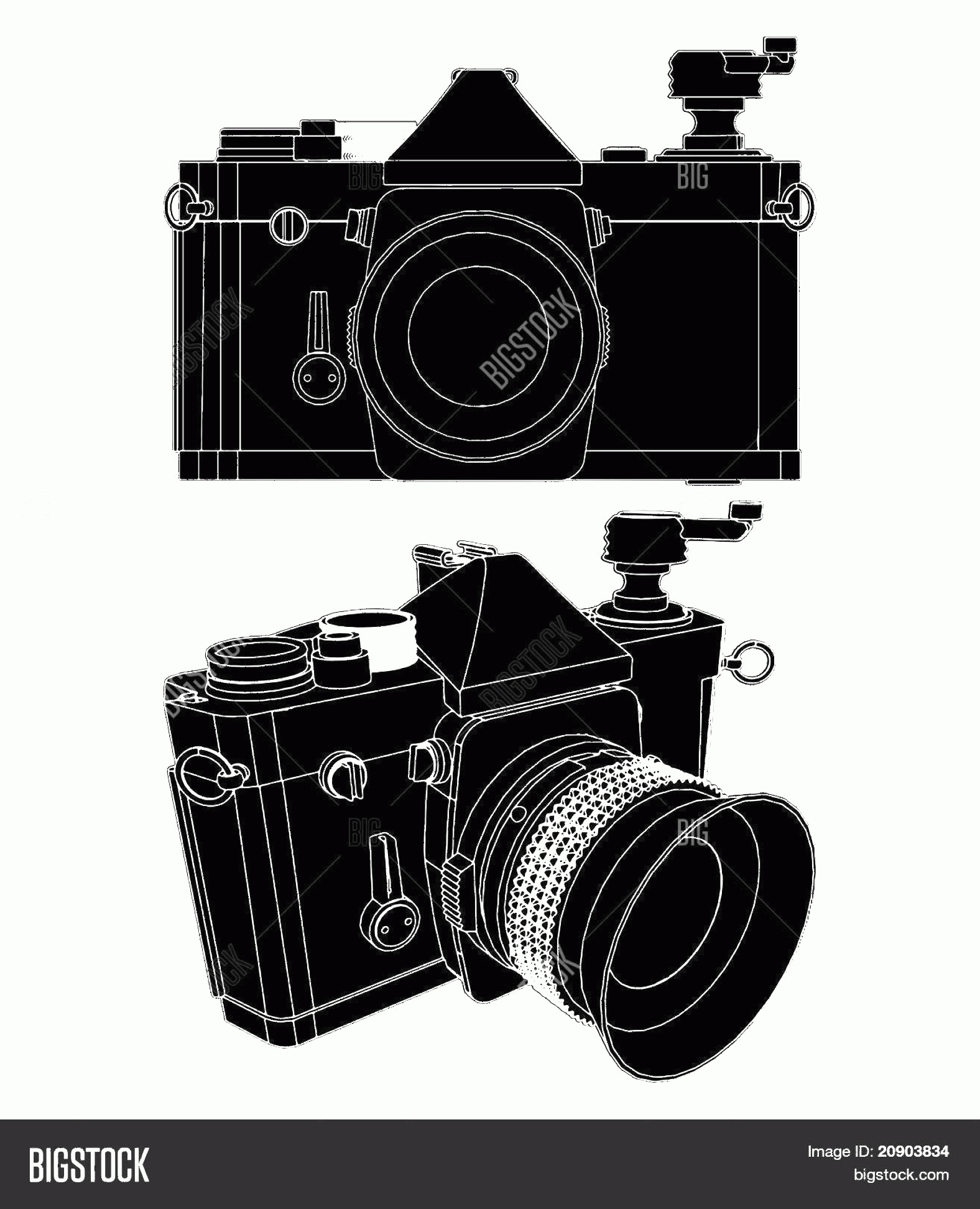 Classic Camera Vector: Stock Vector Camera Vector Eps