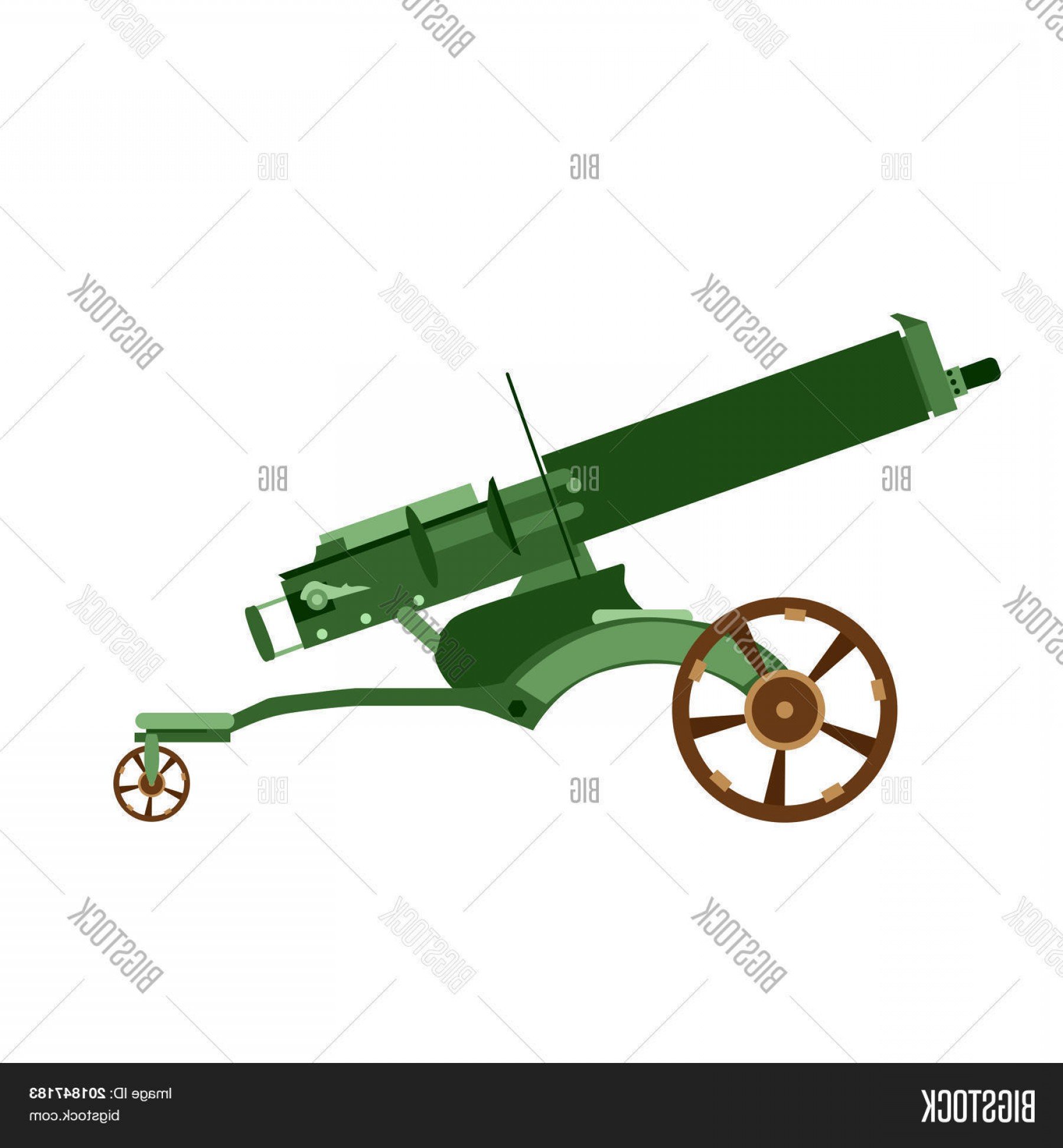Vector Ancient Battle: Stock Vector Cannon Artillery Gun Vector War Old Army Weapon Military Illustration Ancient Icon Battle Isolated