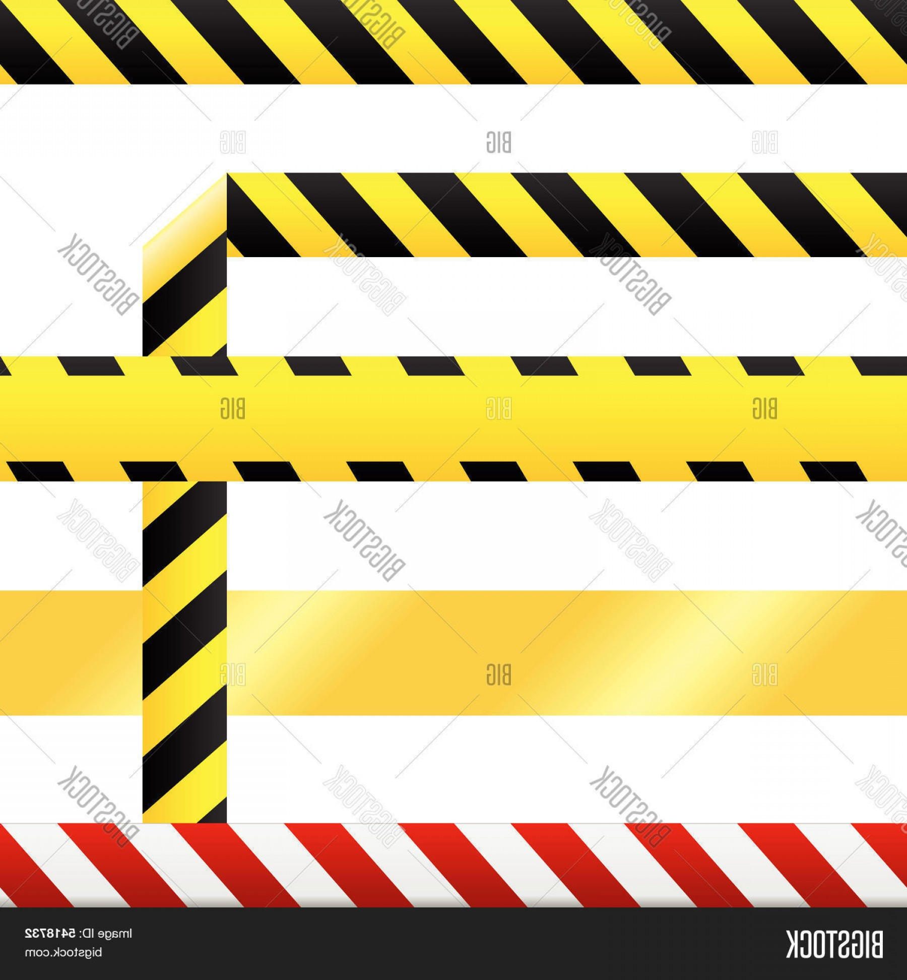 Caution Stripes Vector: Stock Vector Caution Tape And Warning Signs In Seamless Vector