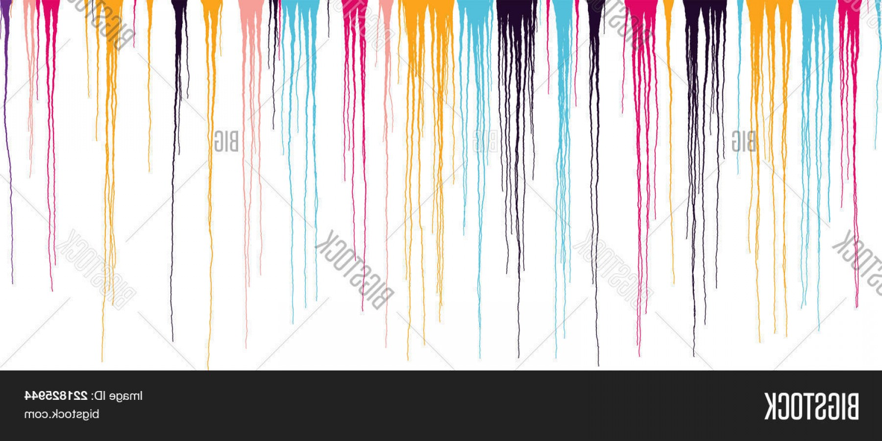 Dripping Paint Vector Illustration: Stock Vector Colorful Dripping Paint Vector Grunge Illustration