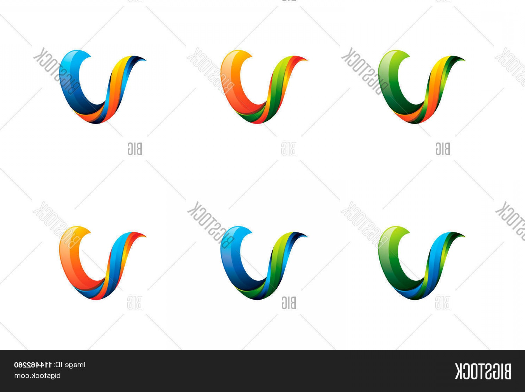 V Logo Vector: Stock Vector Colorful V Letter Logo C V Logo Design Template Element Letter V Design Vector