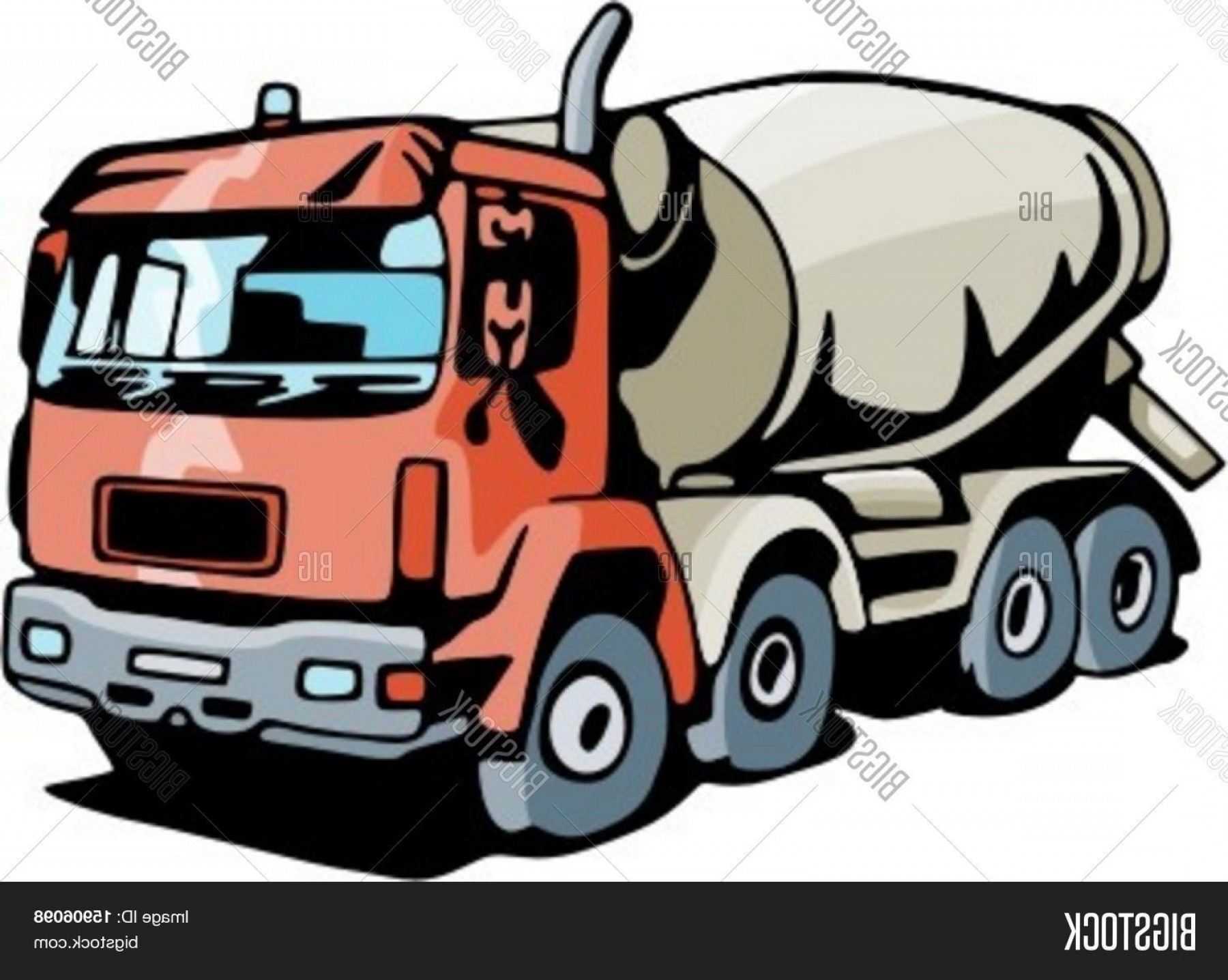 Vector Concrete Truck: Stock Vector Concrete Mixer Truck Check My Portfolio For Many More Images Of This Series