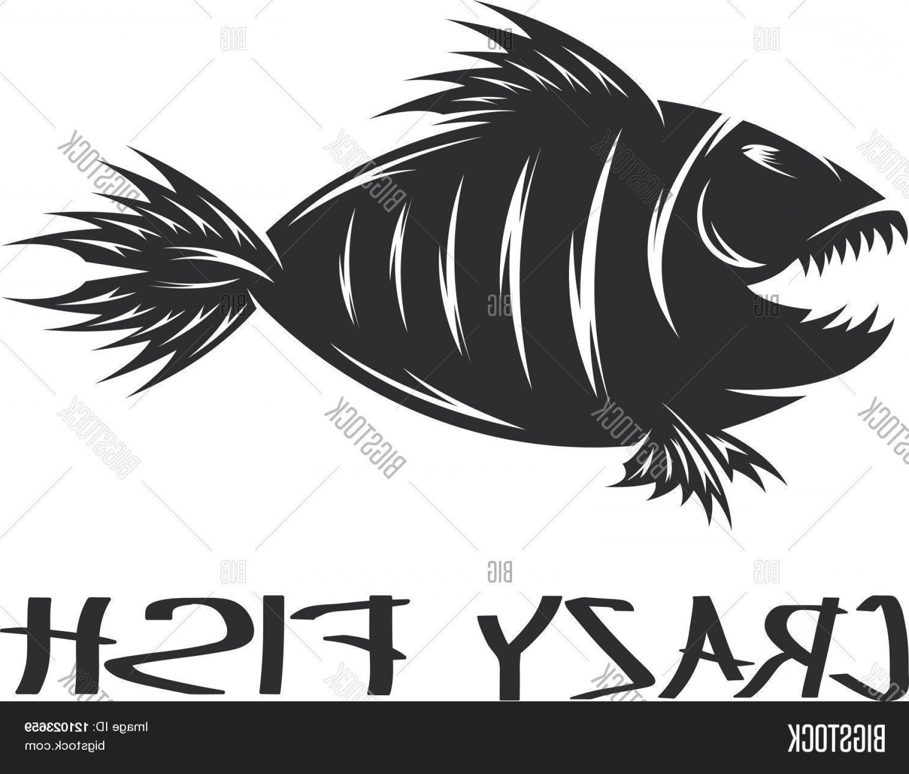Fish Vector Graphic: Stock Vector Crazy Fish Mascot Vector Design Template Concept Of Graphic Clipart Work