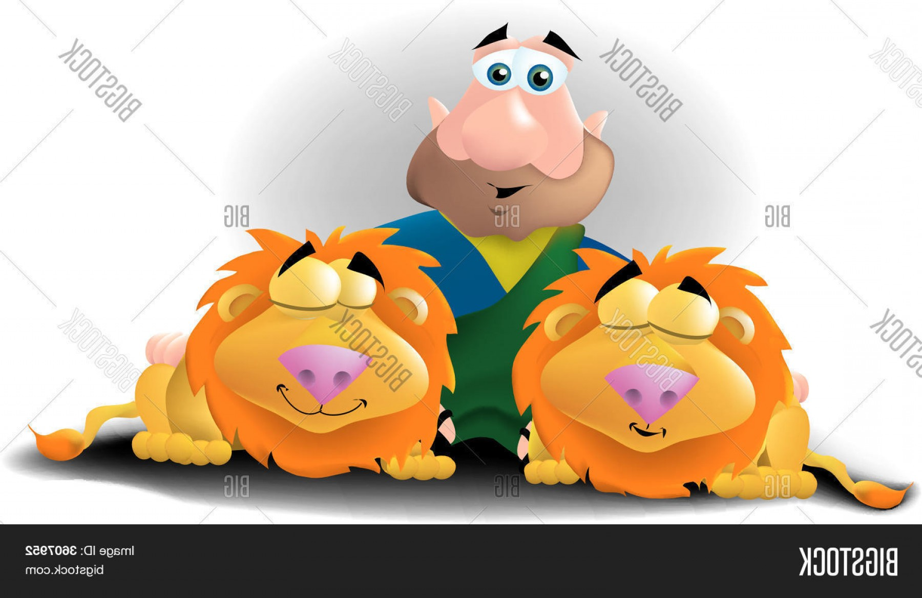 Faith Lions Vector Art Images: Stock Vector Daniel In The Lions Den