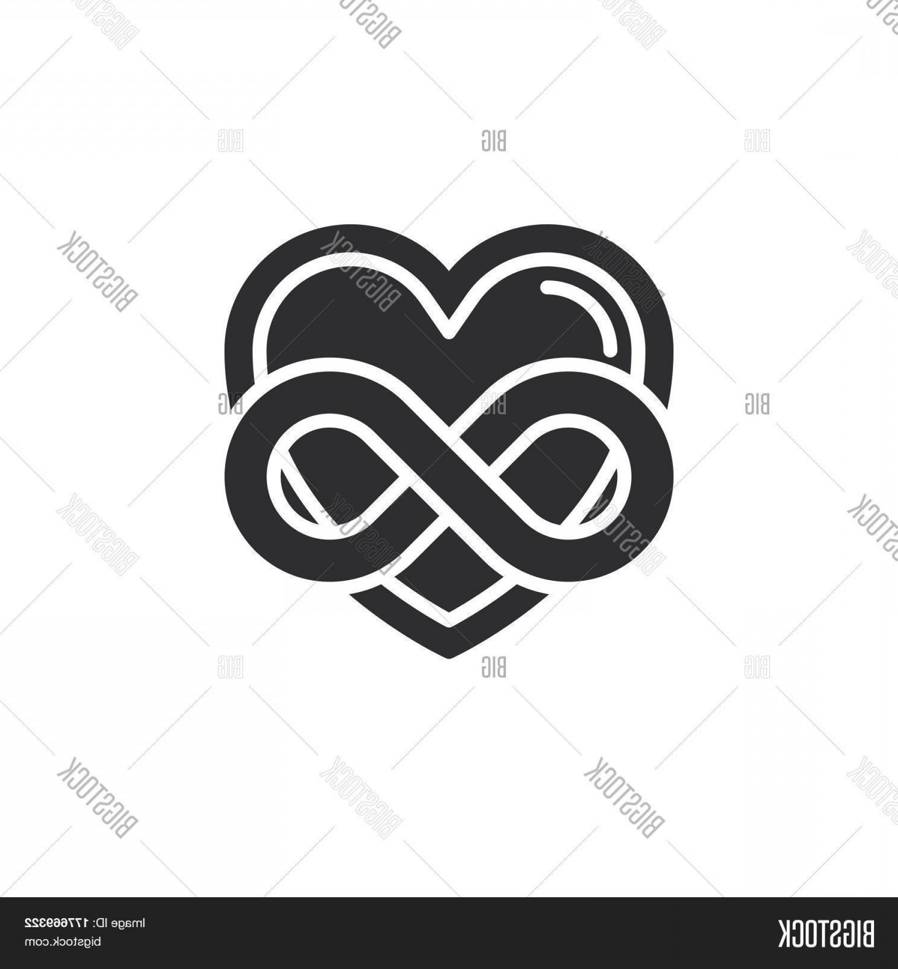 Vector Infinity Symbol Hearts: Stock Vector Eternal Love Icon Vector Filled Flat Sign Solid Pictogram Isolated On White Heart With Infinity Symbol Logo Illustration