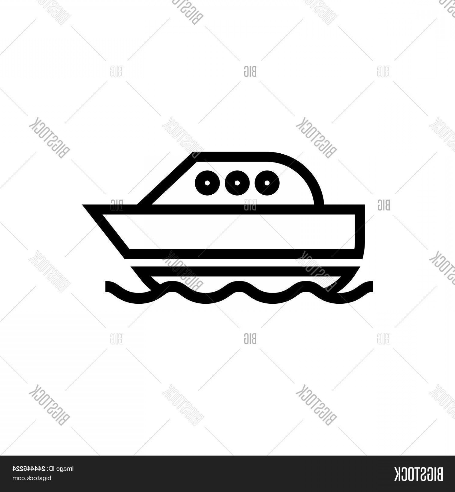 Boat Vector Art Graphics: Stock Vector Floating Boat Vector Icon On White Background Floating Boat Modern Icon For Graphic And Web Design