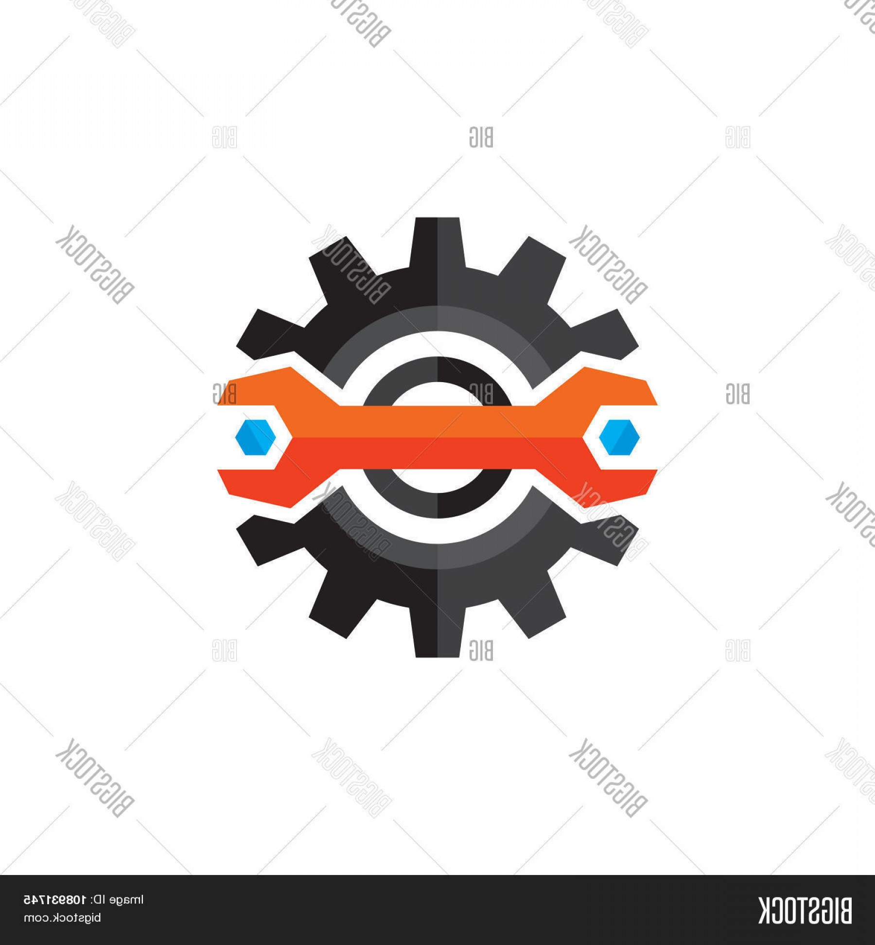 Gear Vector Icons Large: Stock Vector Gear Vector Logo Gear And Wrench Icon Sign In Flat Style Design Gear Flat Icon