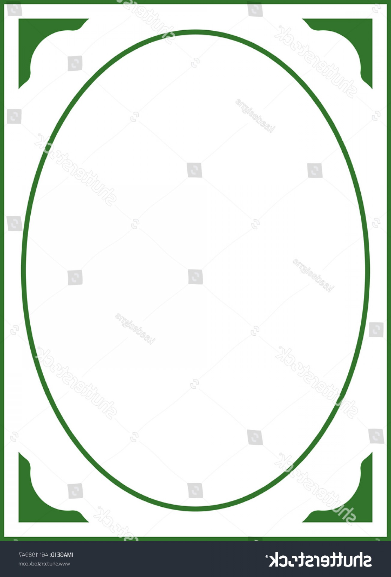 Green Oval Border Vector: Stock Vector Green Oval Frame Border Beautiful Vector Vintage Isolated