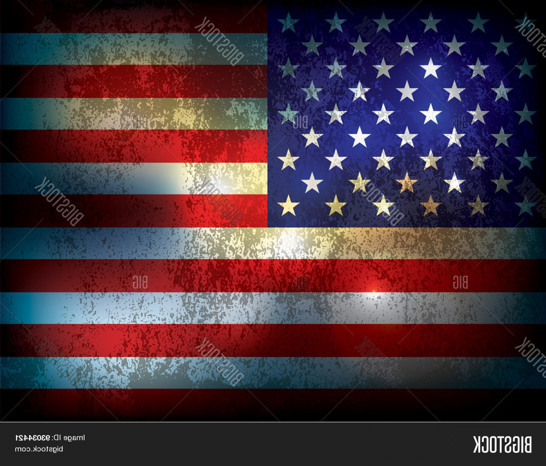 Distressed Red Background Vector: Stock Vector Grunge Distressed American Flag Illustration