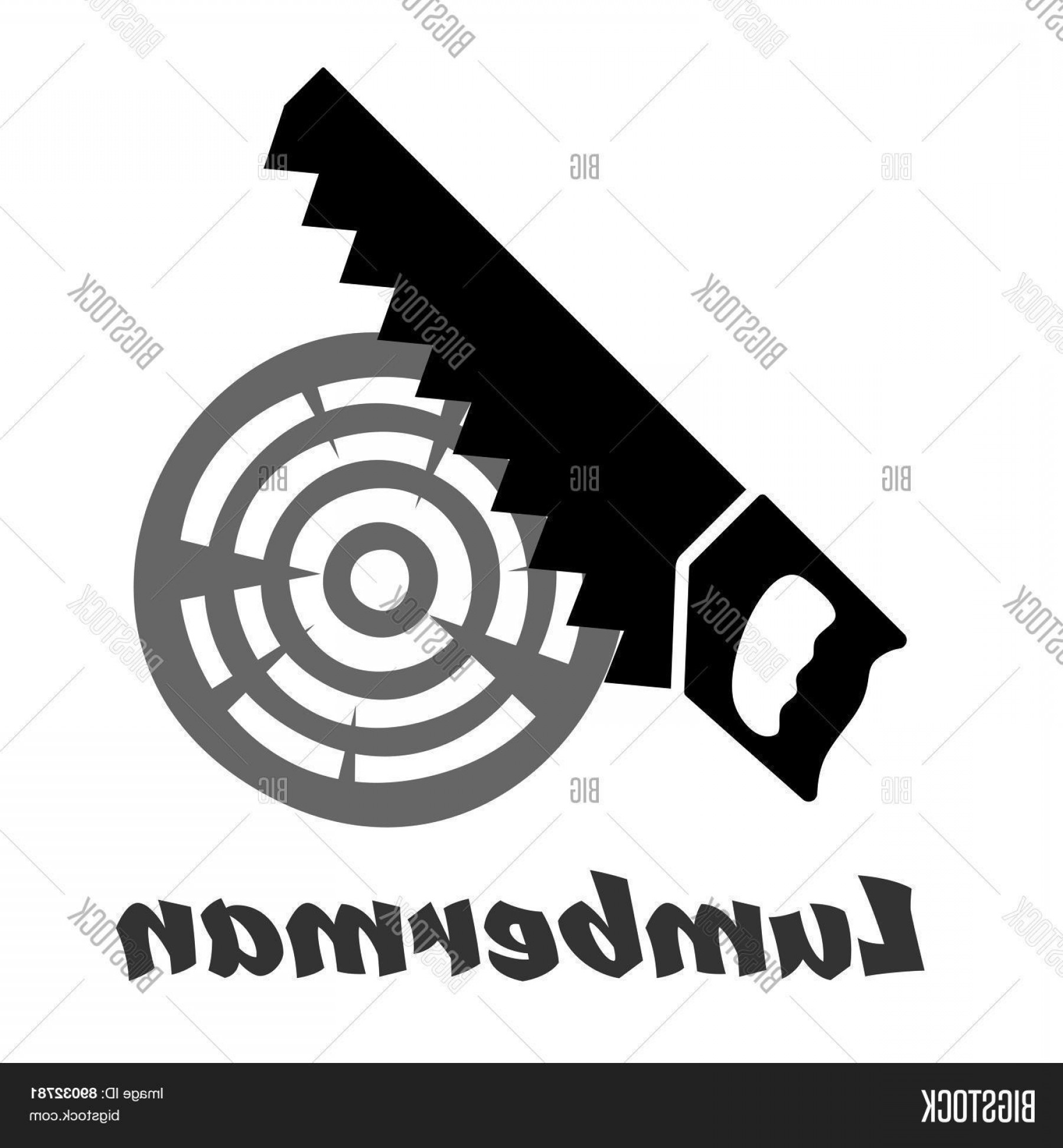 Wood Cutting Vector: Stock Vector Hand Saw Icon Cutting Wood Log