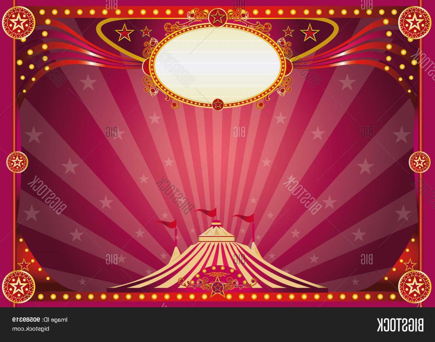 Circus Background Vector: Stock Vector Horizontal Magic Circus Background Horizontal Purple Circus Background For Your Show