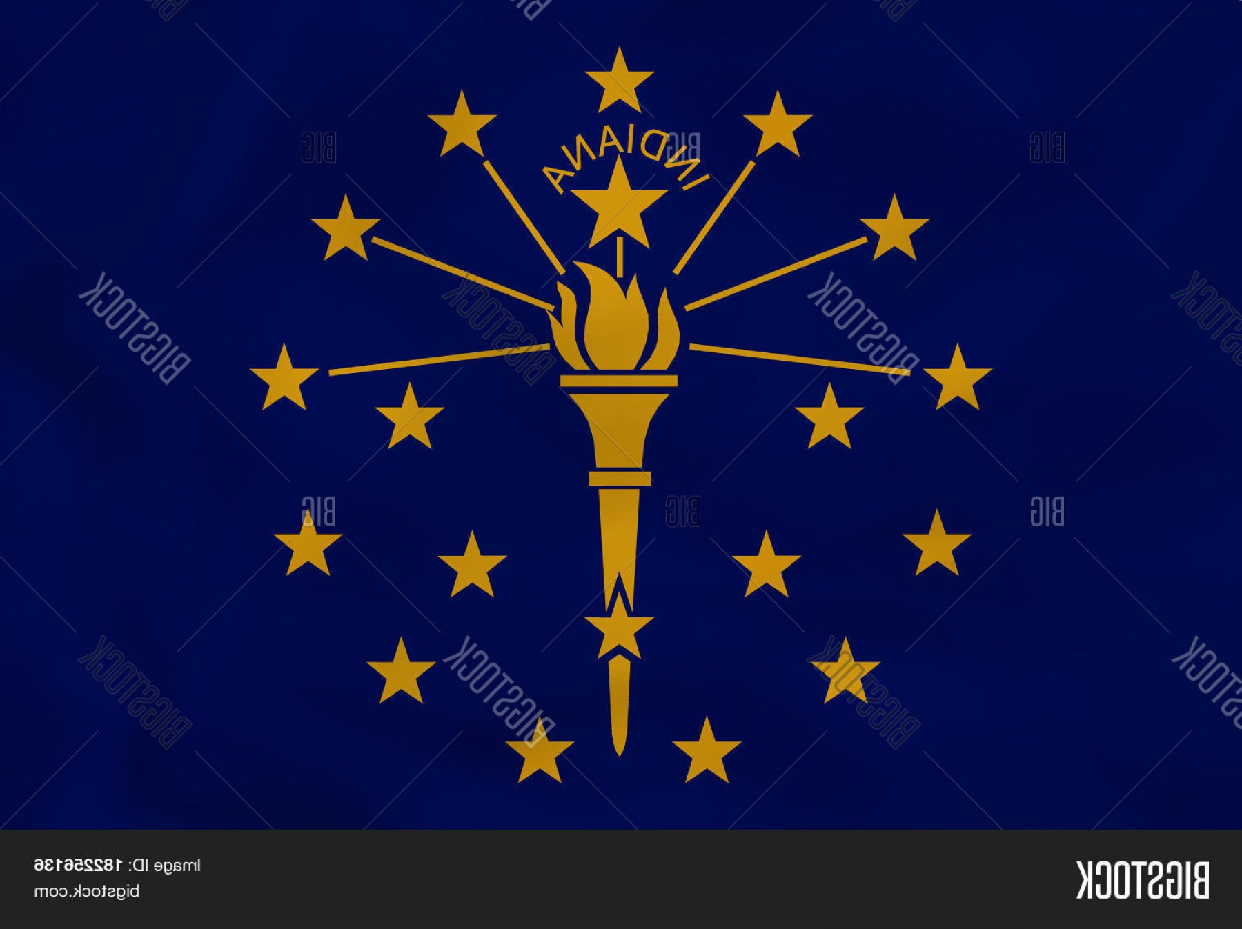 State Flag Images Vector: Stock Vector Indiana Waving Flag Indiana State Flag Background Texture