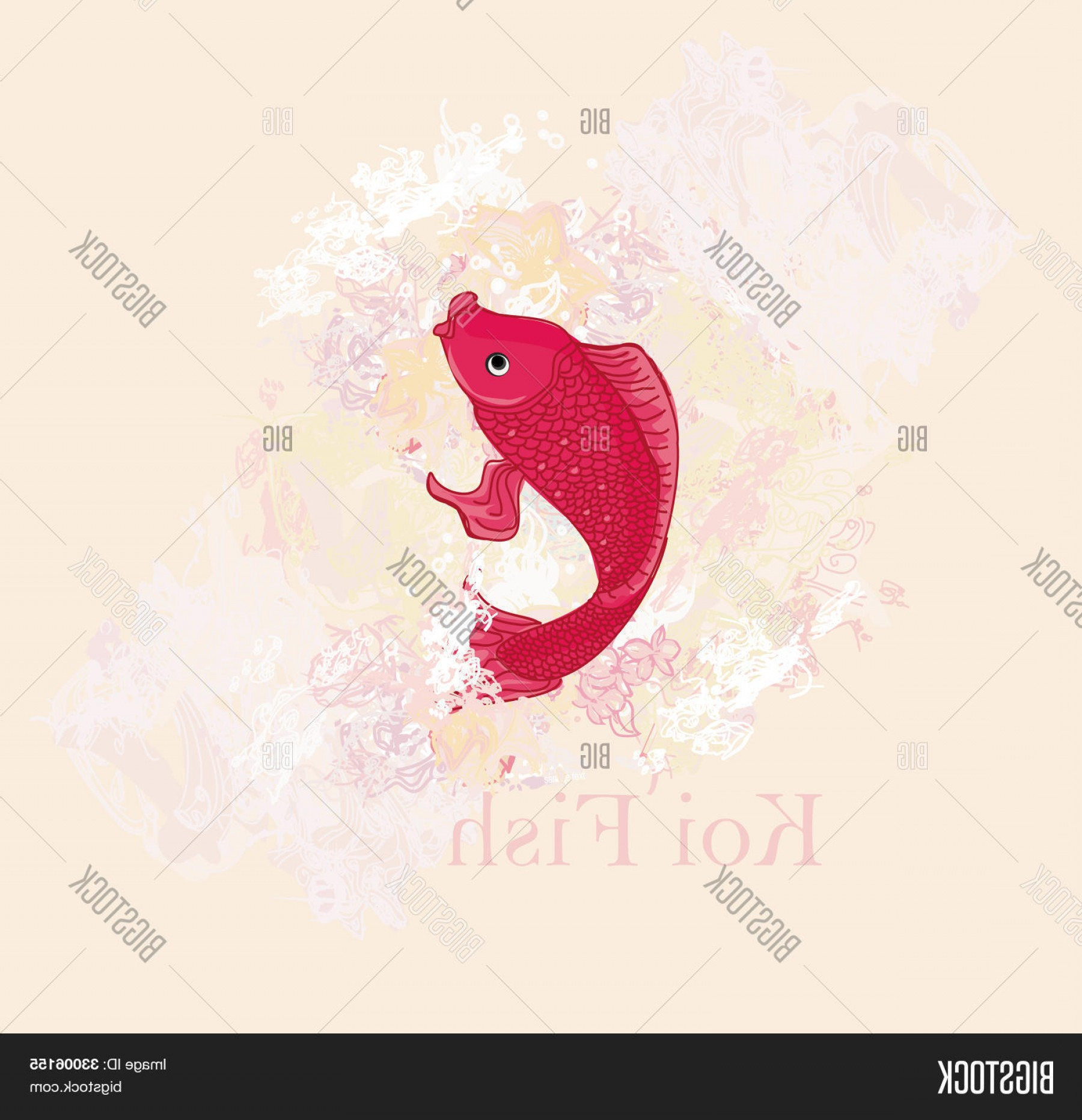 Koi Vector: Stock Vector Japanese Koi Vector Background