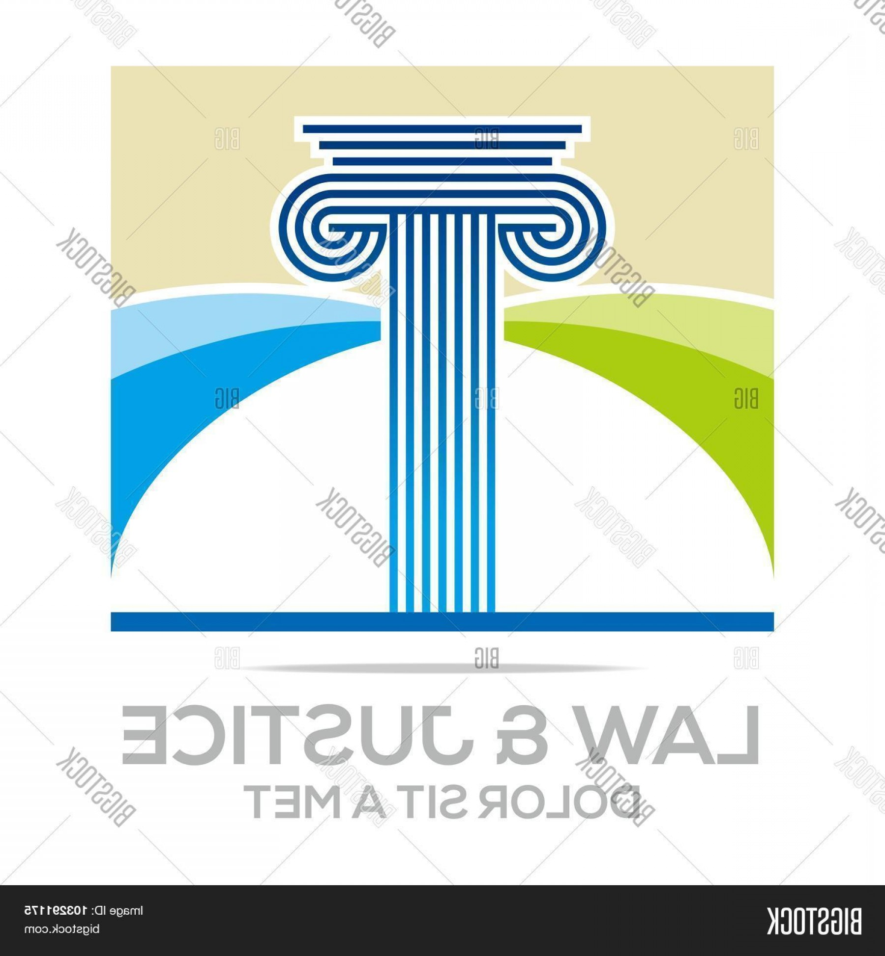 Mets Logo Vector: Stock Vector Logo Vector Law Building And Justice