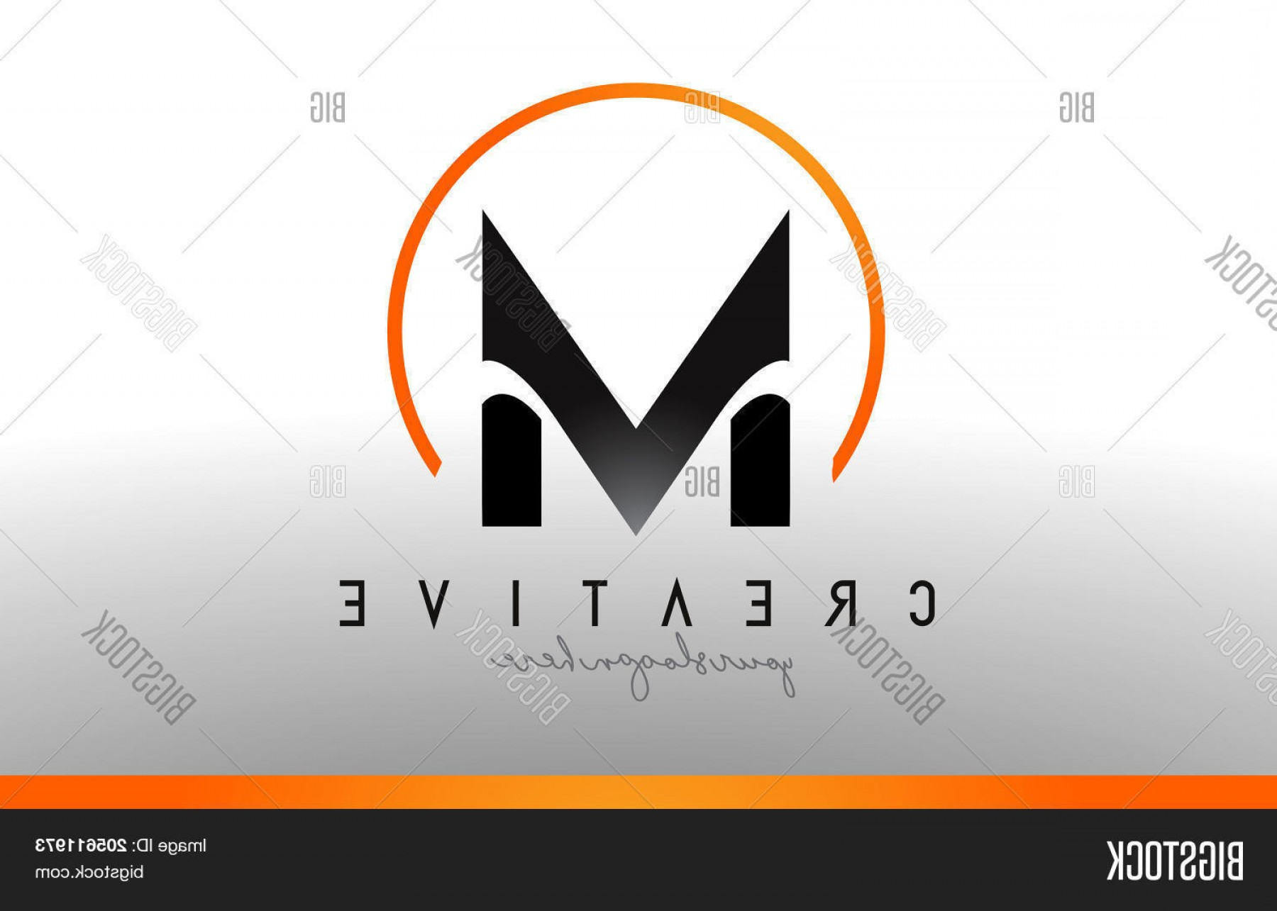 Cool Logo Icon Vector: Stock Vector M Letter Logo Design With Black Orange Color Cool Modern Icon Template
