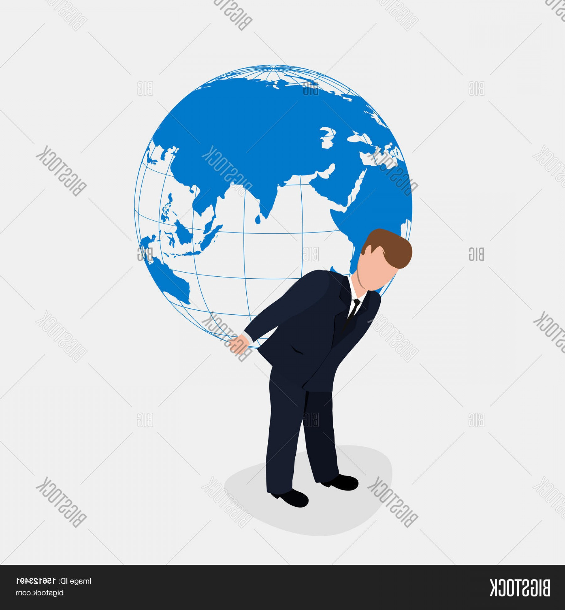 Vector Person Holding: Stock Vector Man Carrying The World Illustration Businessman Holding The Globe Vector Person Holds Atlas