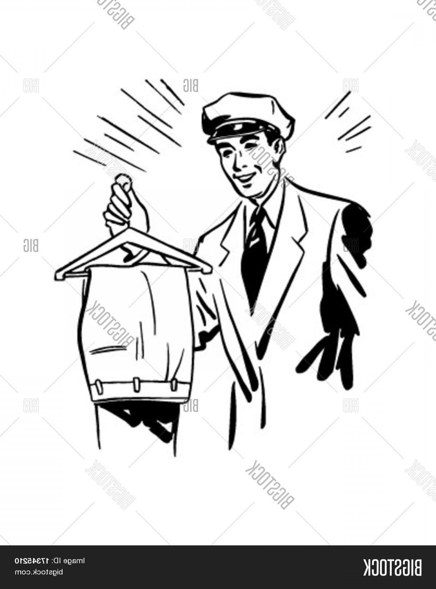Dry Cleaning Vector: Stock Vector Man With Trousers Dry Cleaning Service