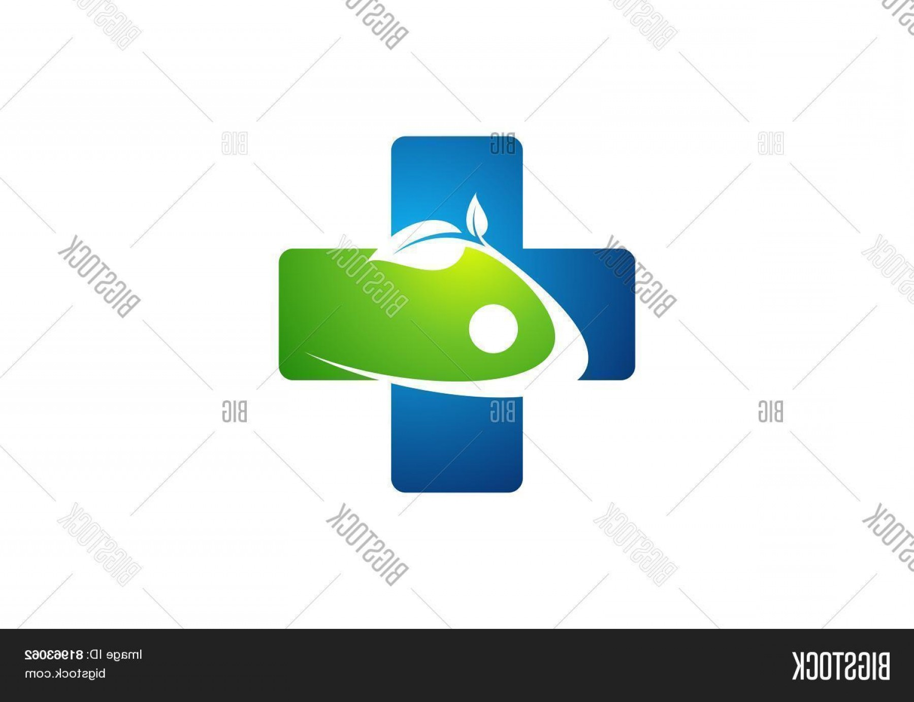 Health Vector Logo: Stock Vector Medicine Health Iconccross Plant Logocplus Nature Symbolchealthy People
