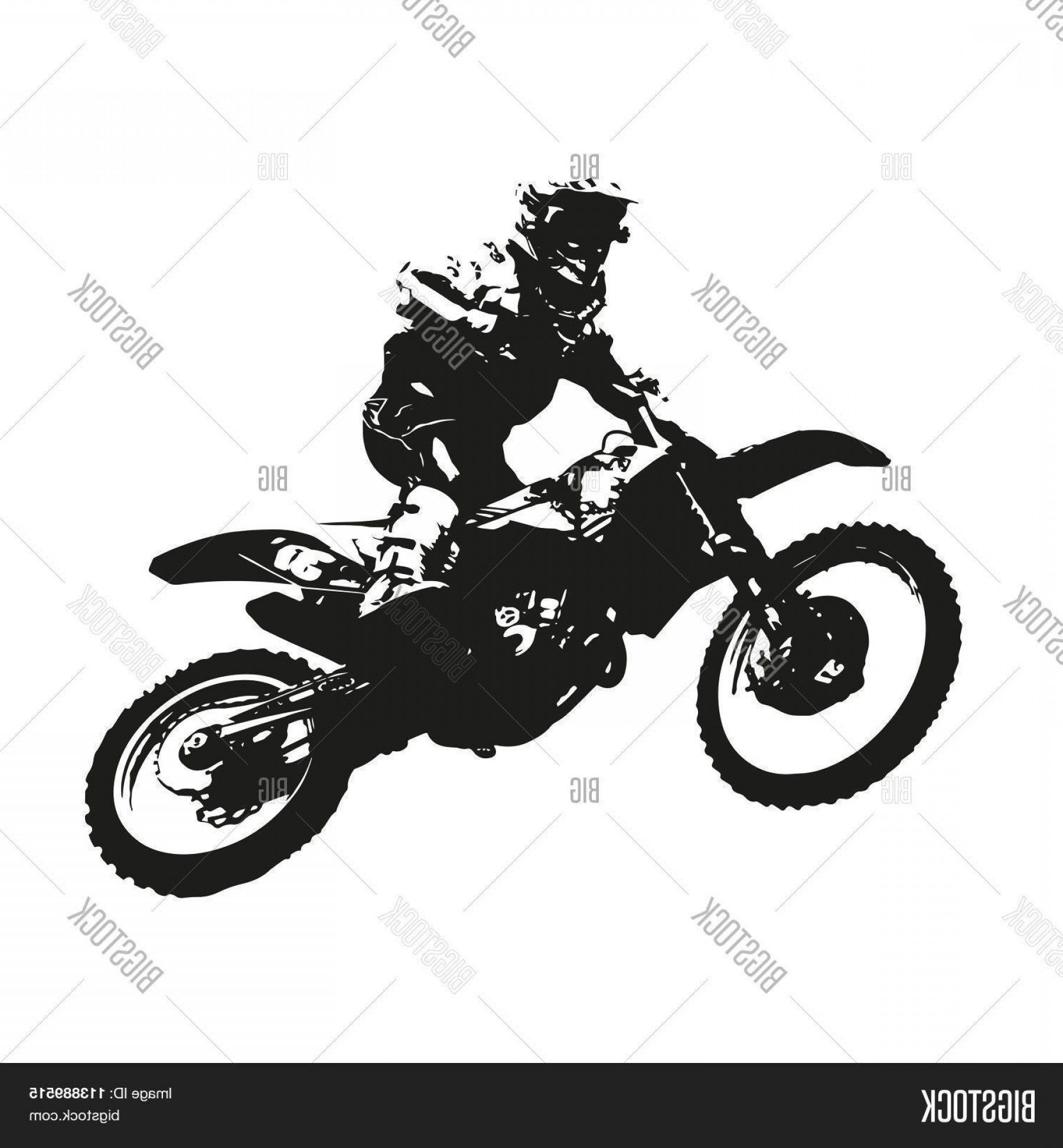Dirt Bike Gas Can Vector: Stock Vector Motocross Vector Silhouette Of A Motorcycle Racer