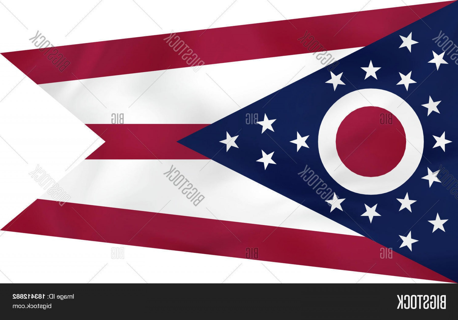 State Flag Images Vector: Stock Vector Ohio Waving Flag Ohio State Flag Background Texture