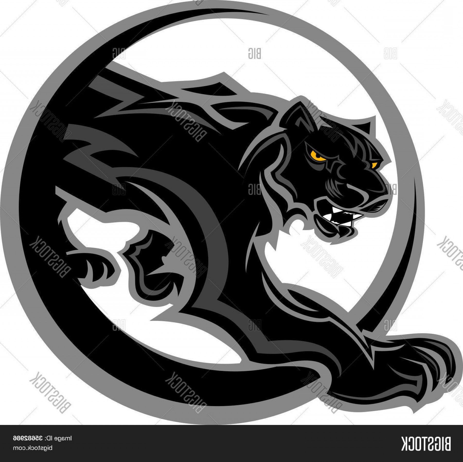 Panther Mascot Vector Sports: Stock Vector Panther Mascot Body Vector Graphic