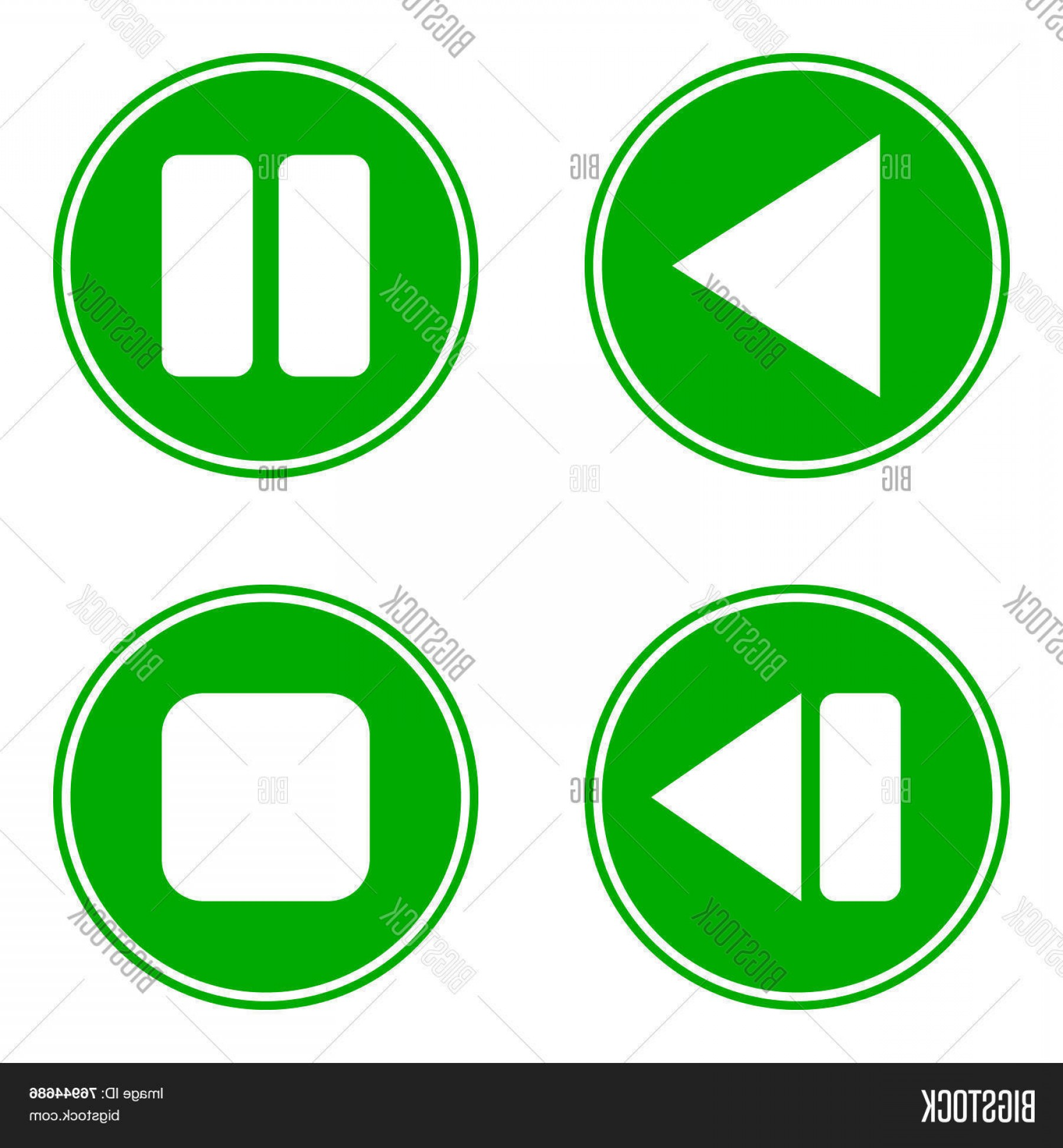 Pause Symbol Vector: Stock Vector Playc Pausec Stopc Forward Buttons Set