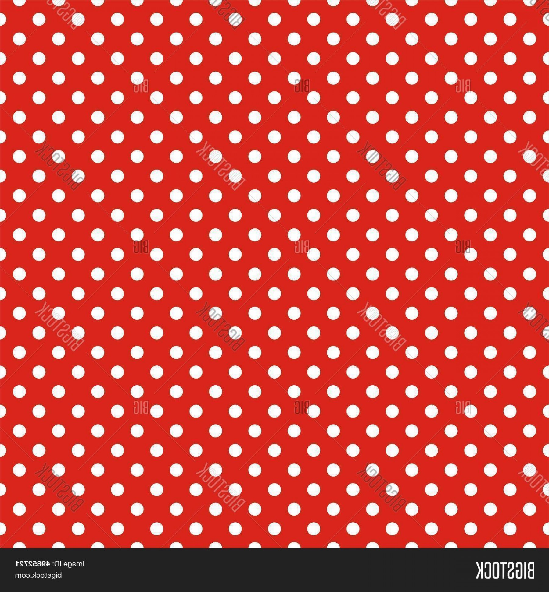 Polka Dot Background Vector Y: Stock Vector Retro Seamless Vector Pattern Or Texture With White Polka Dots On Red Background