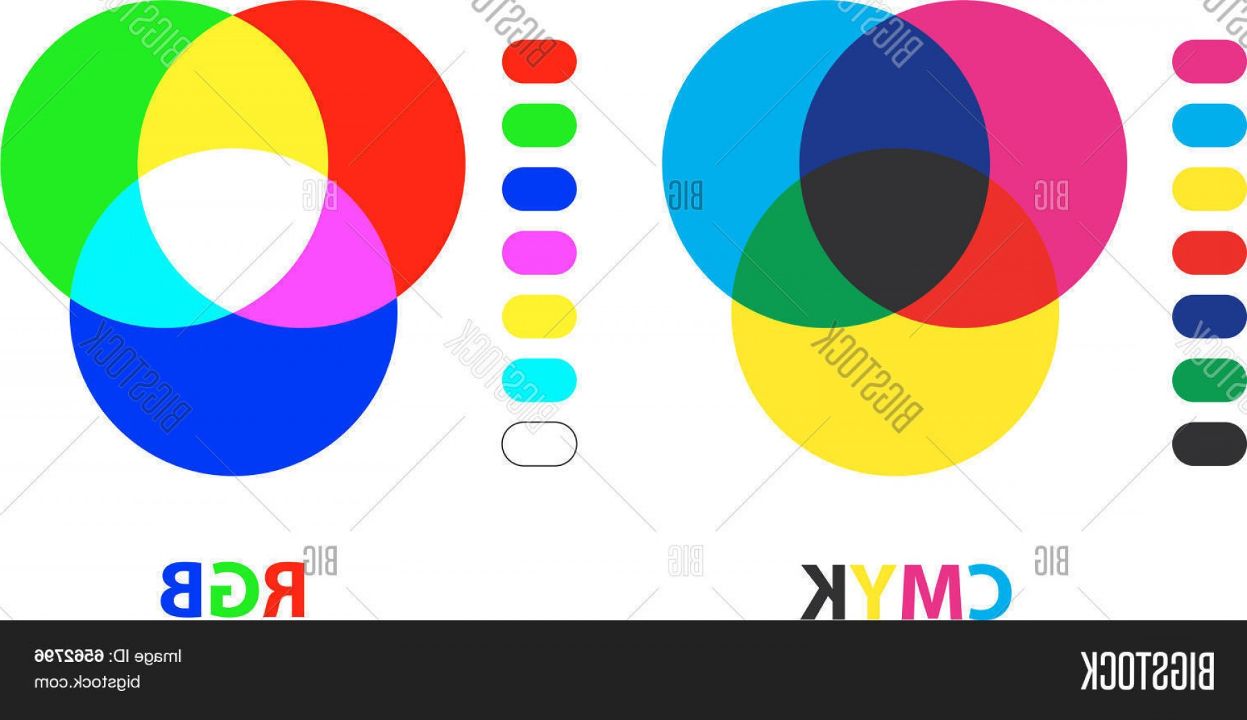 Color CMYK Chart Vector Free: Stock Vector Rgb Cmyk Color Charts