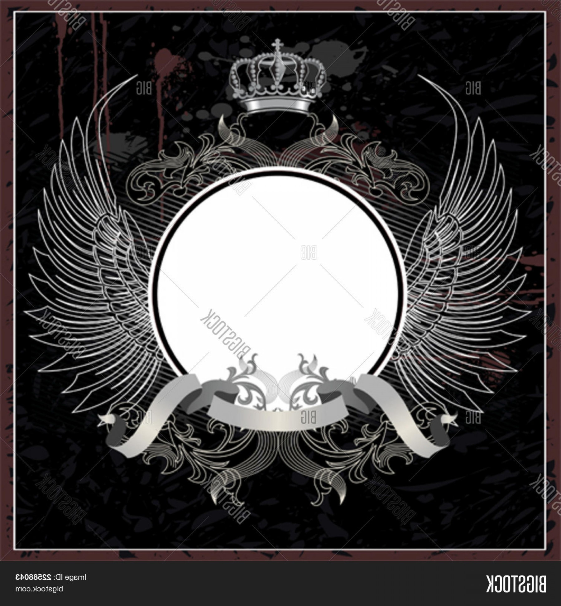 Vector Royal Vintage: Stock Vector Royal Vintage Vector Illustration With Crown And Wings