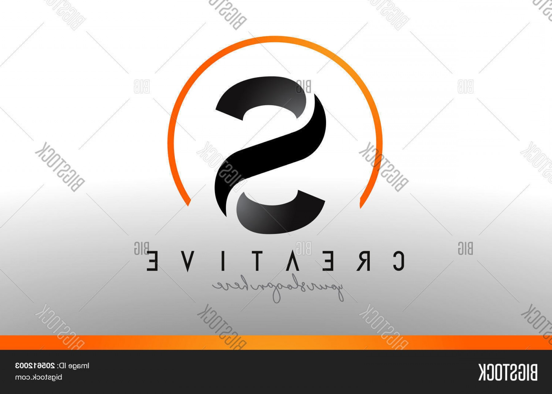 Cool Logo Icon Vector: Stock Vector S Letter Logo Design With Black Orange Color Cool Modern Icon Template