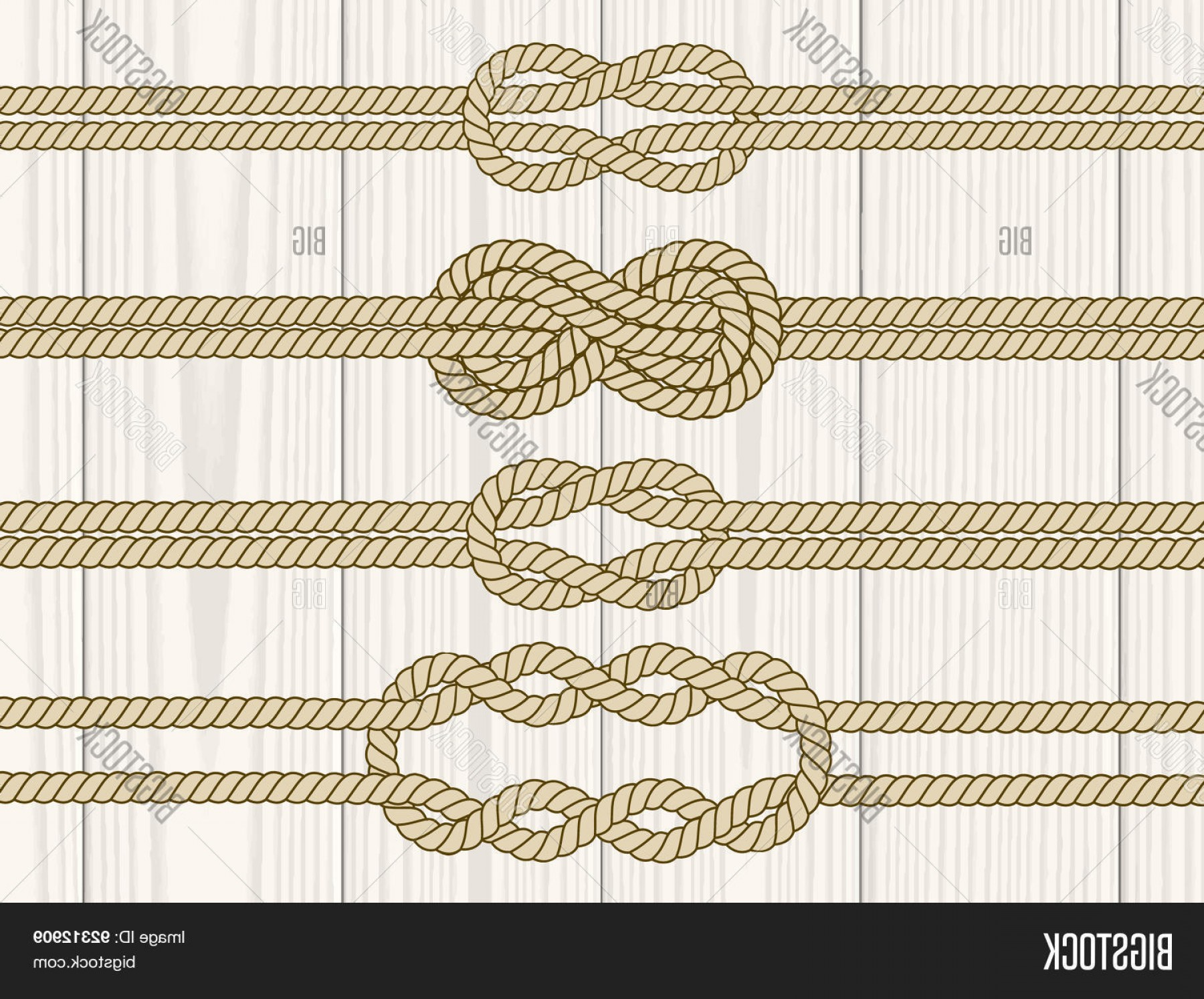 Nautical Text Divider Vector: Stock Vector Sailor Knot Dividers Set
