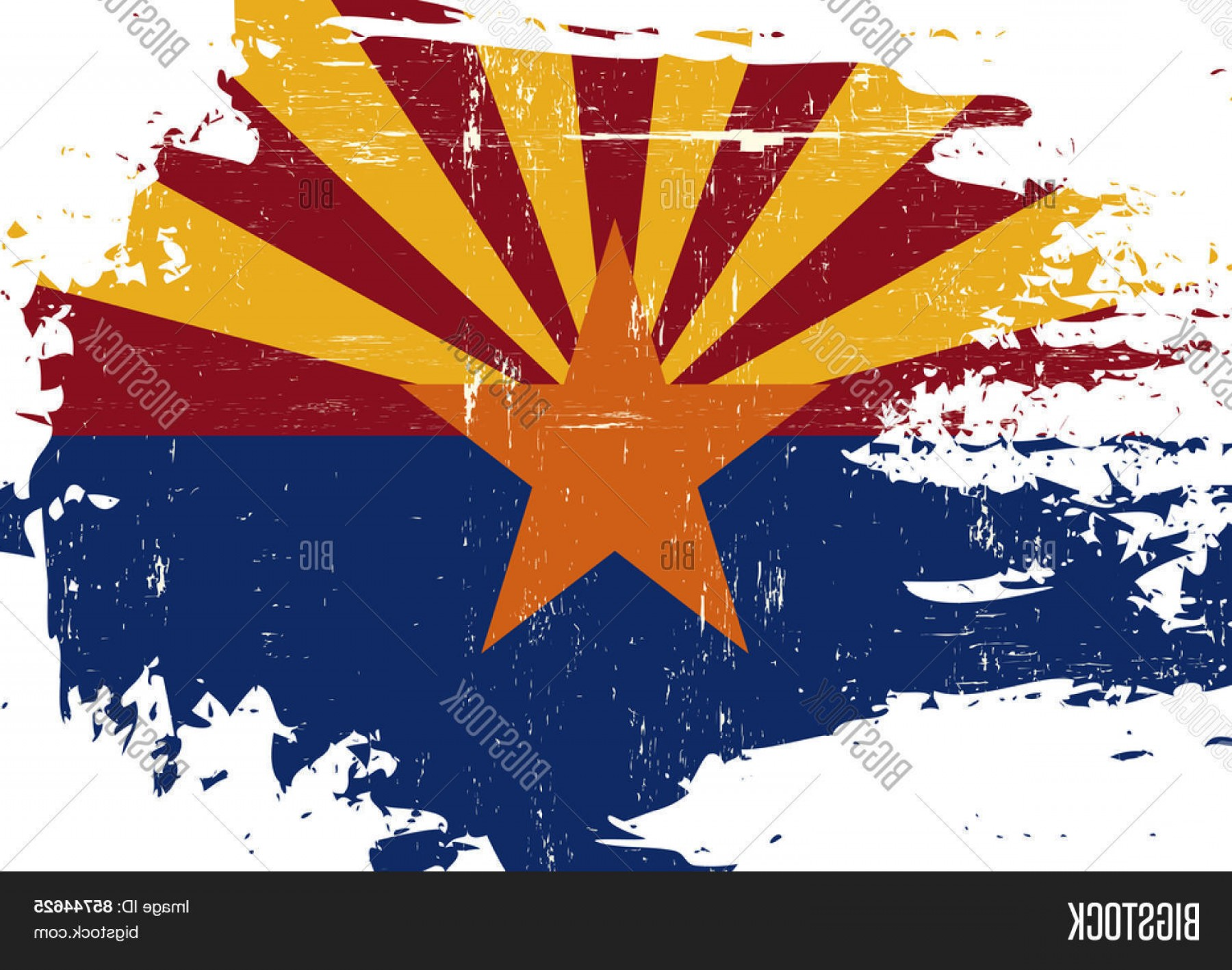 Arizona Flag Vector: Stock Vector Scratched Arizona Flag A Flag Of Arizona With A Grunge Texture