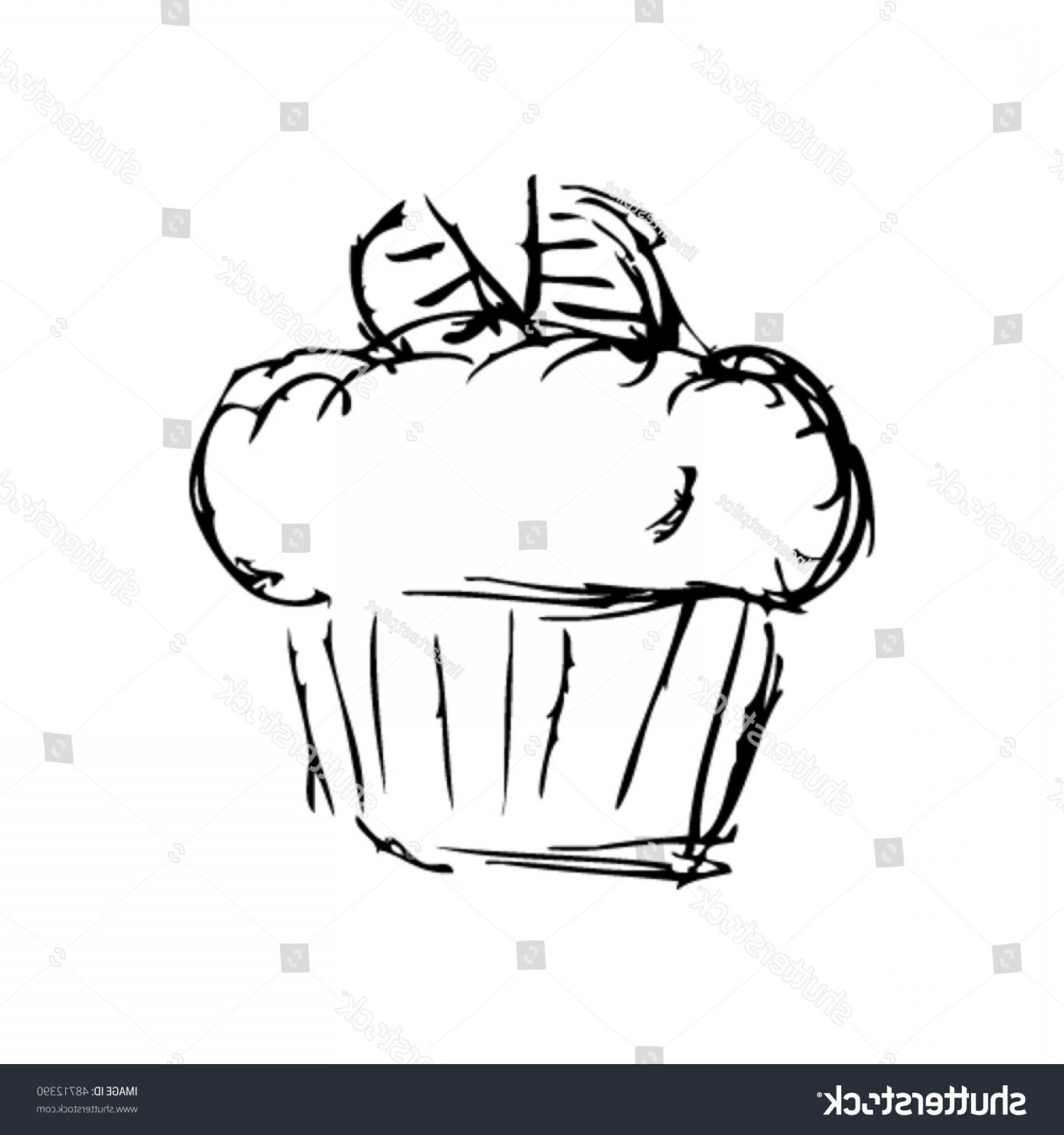 Scratch Y Drawing Vector: Stock Vector Scratchy Vector Cake Drawing