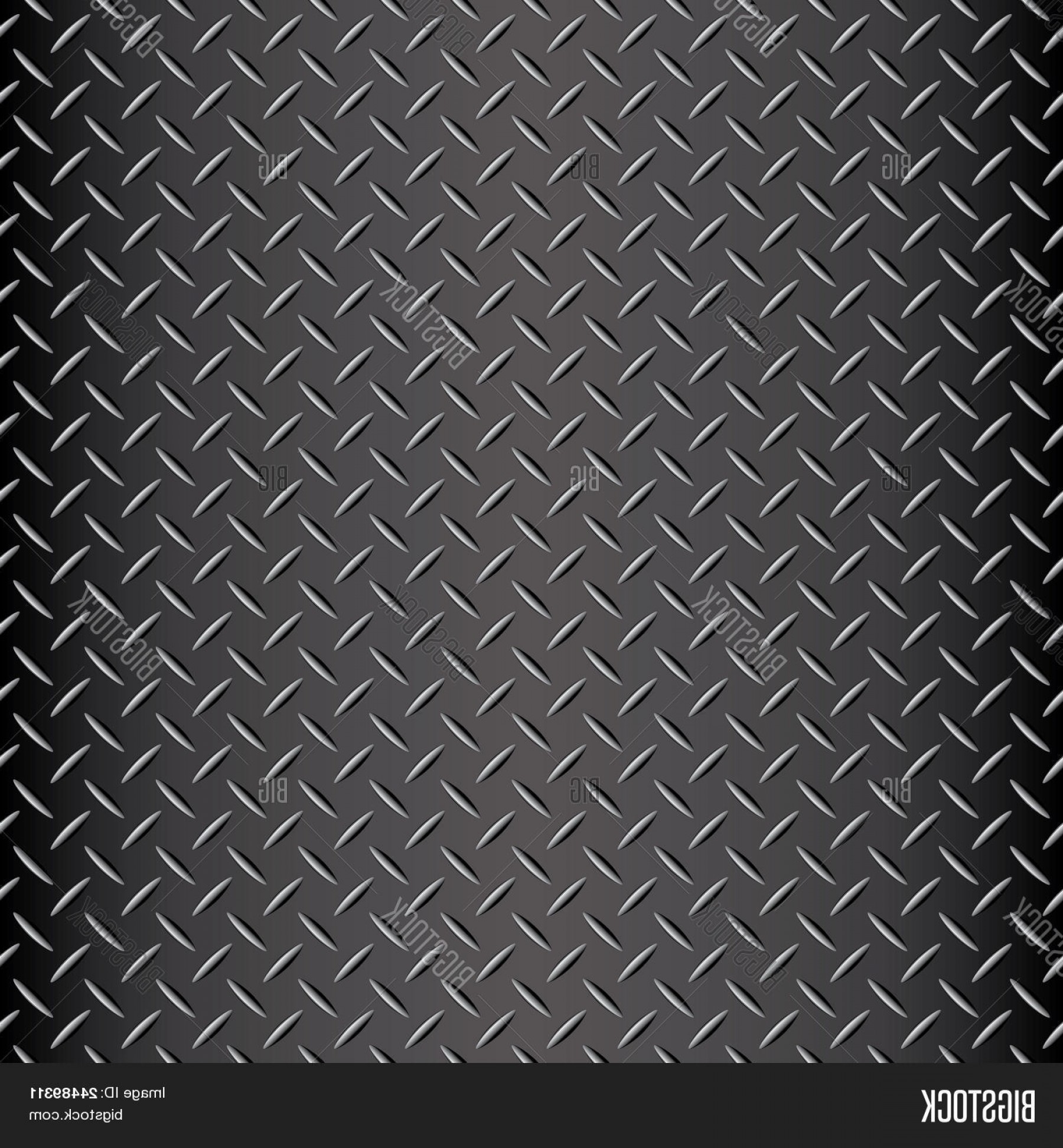 Diamond Plate Vector Pattern: Stock Vector Seamless Diamond Plate Vector