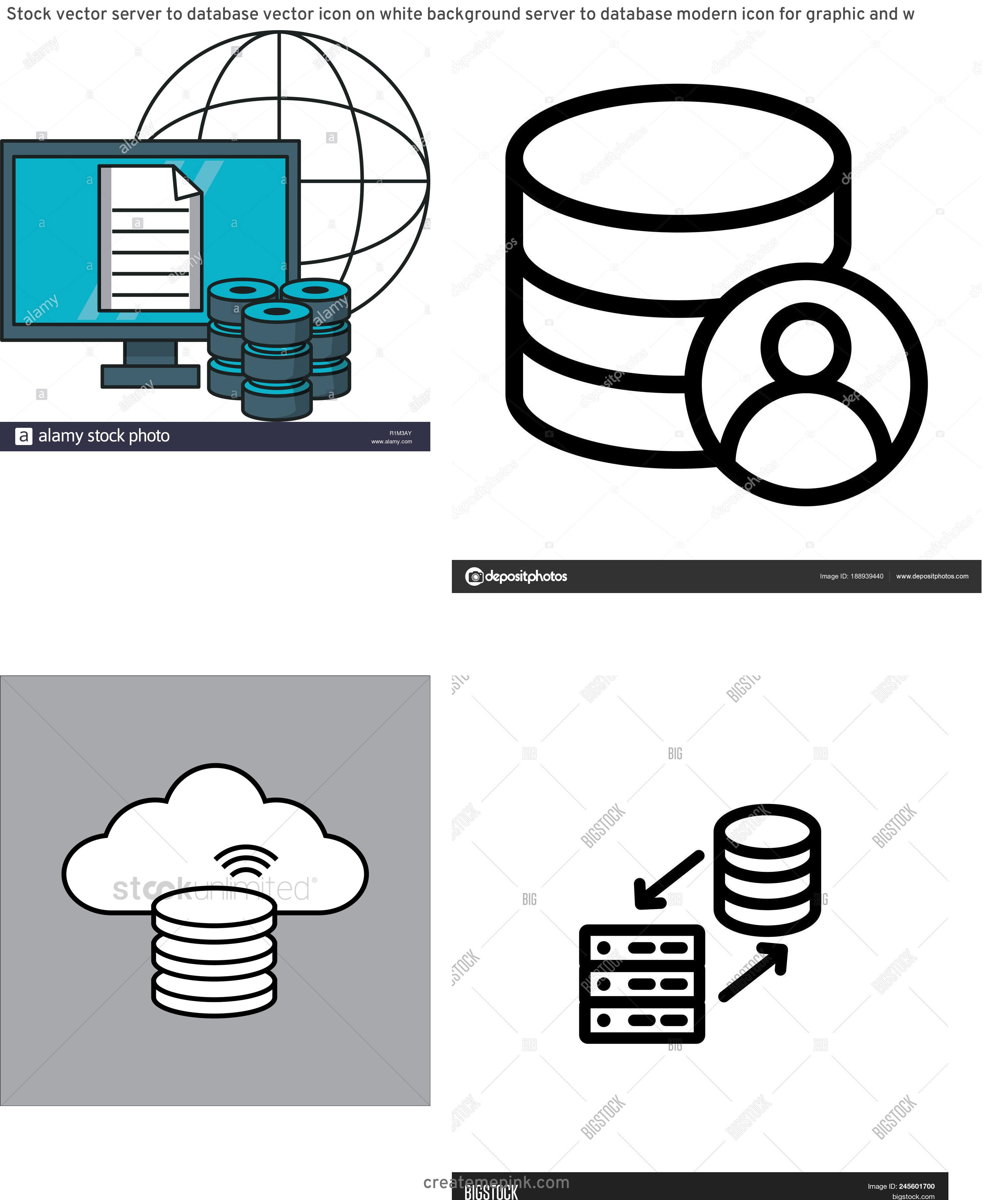 Database Vector Art: Stock Vector Server To Database Vector Icon On White Background Server To Database Modern Icon For Graphic And W