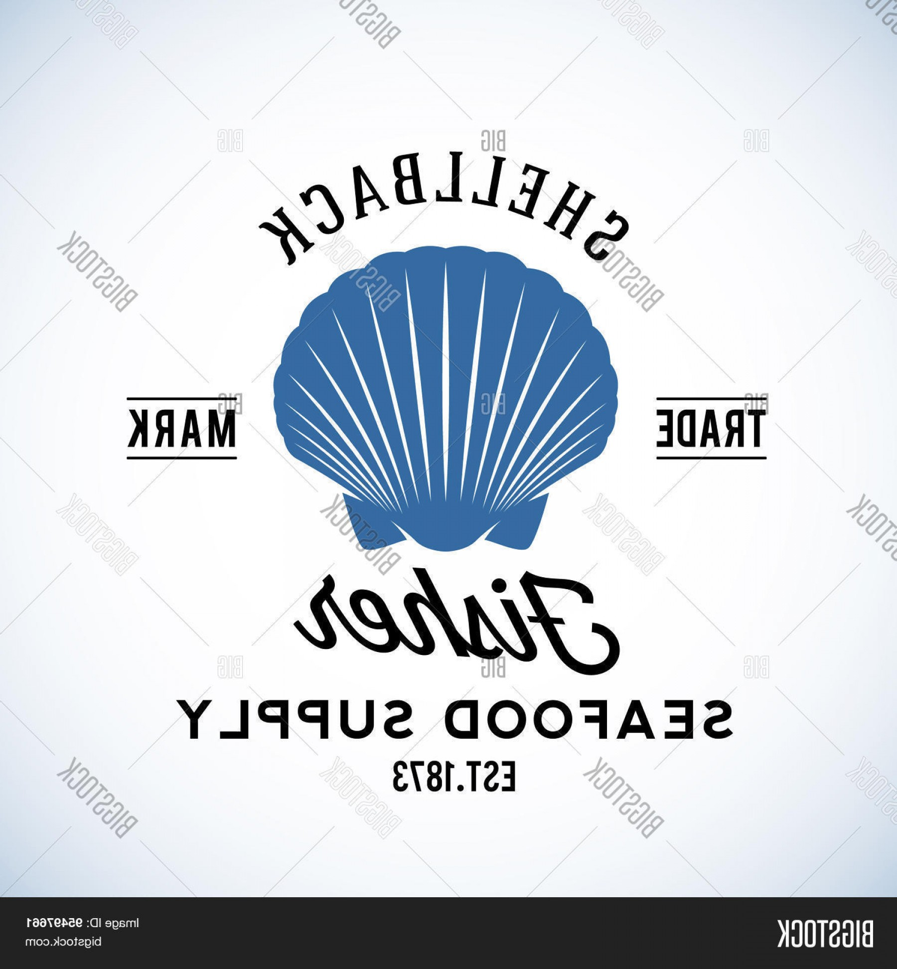 U S. Navy Shellback Logos Vector: Stock Vector Shellback Fisher Seafood Supply Abstract Vector Retro Logo Template Or Vintage Label With Typography