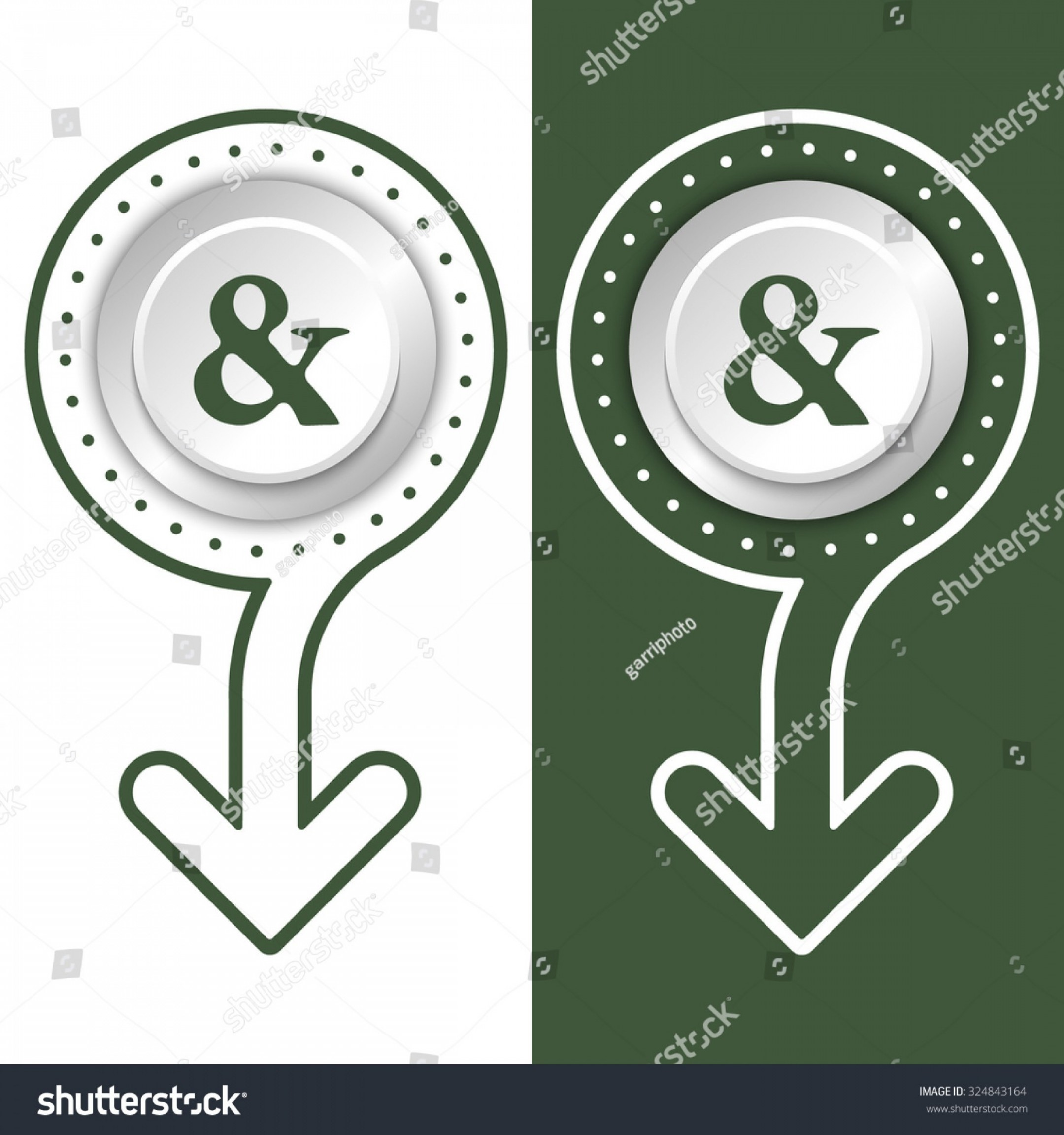 Ampersand Symbol Vector: Stock Vector Simple Flat Abstract Arrow And Ampersand Symbol