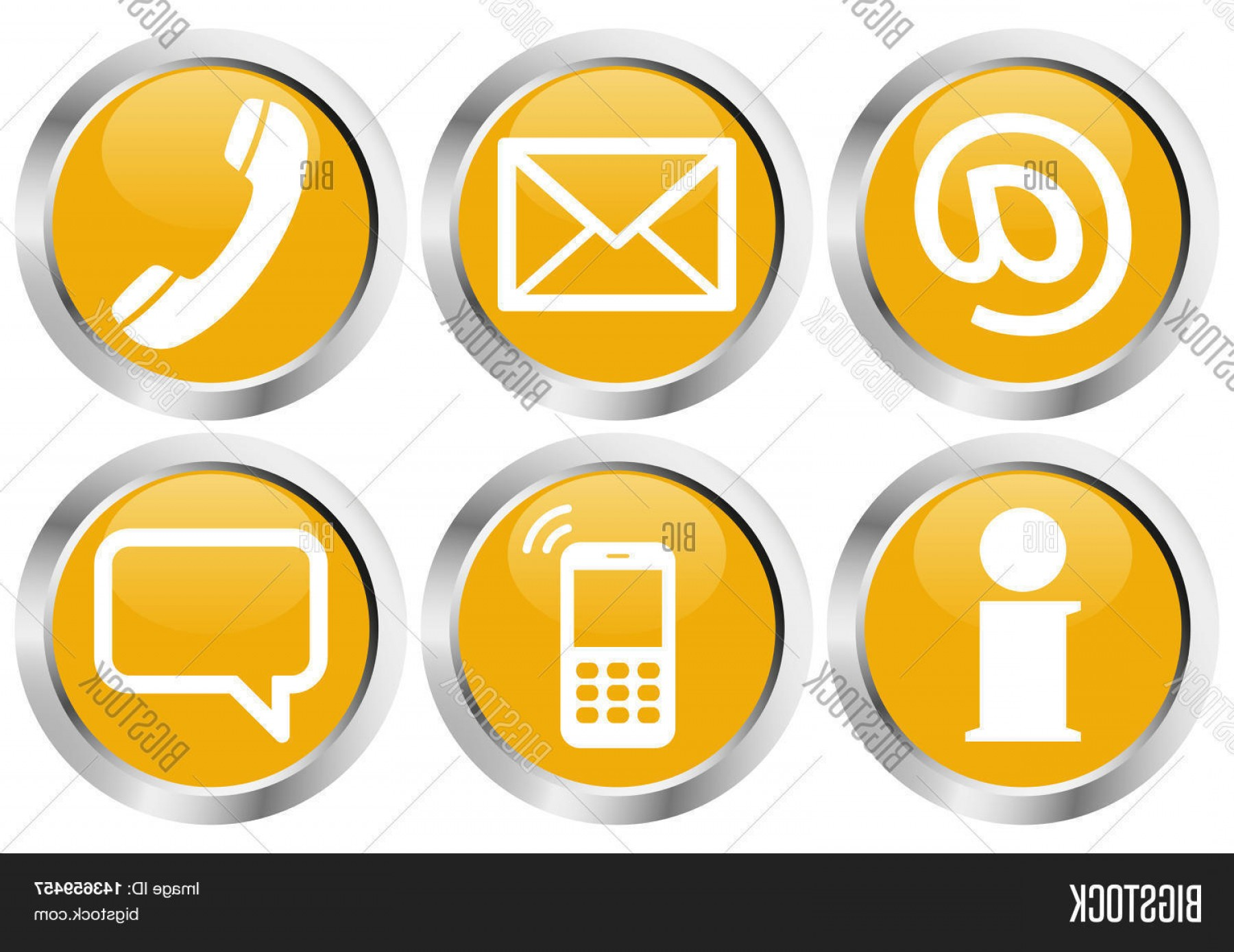 Contact Button Icons Vector Free: Stock Vector Six Contact Us Icons Button Set