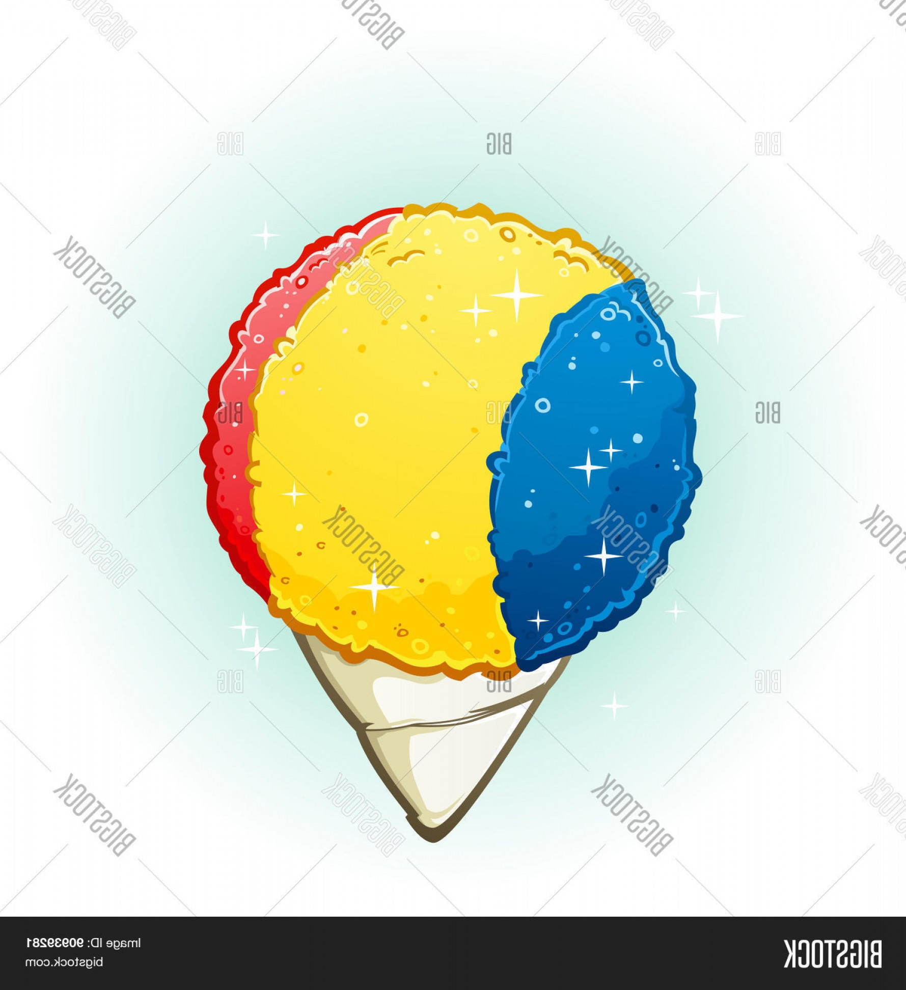 Snow Cone Vector Free: Stock Vector Snow Cone Cartoon Illustration