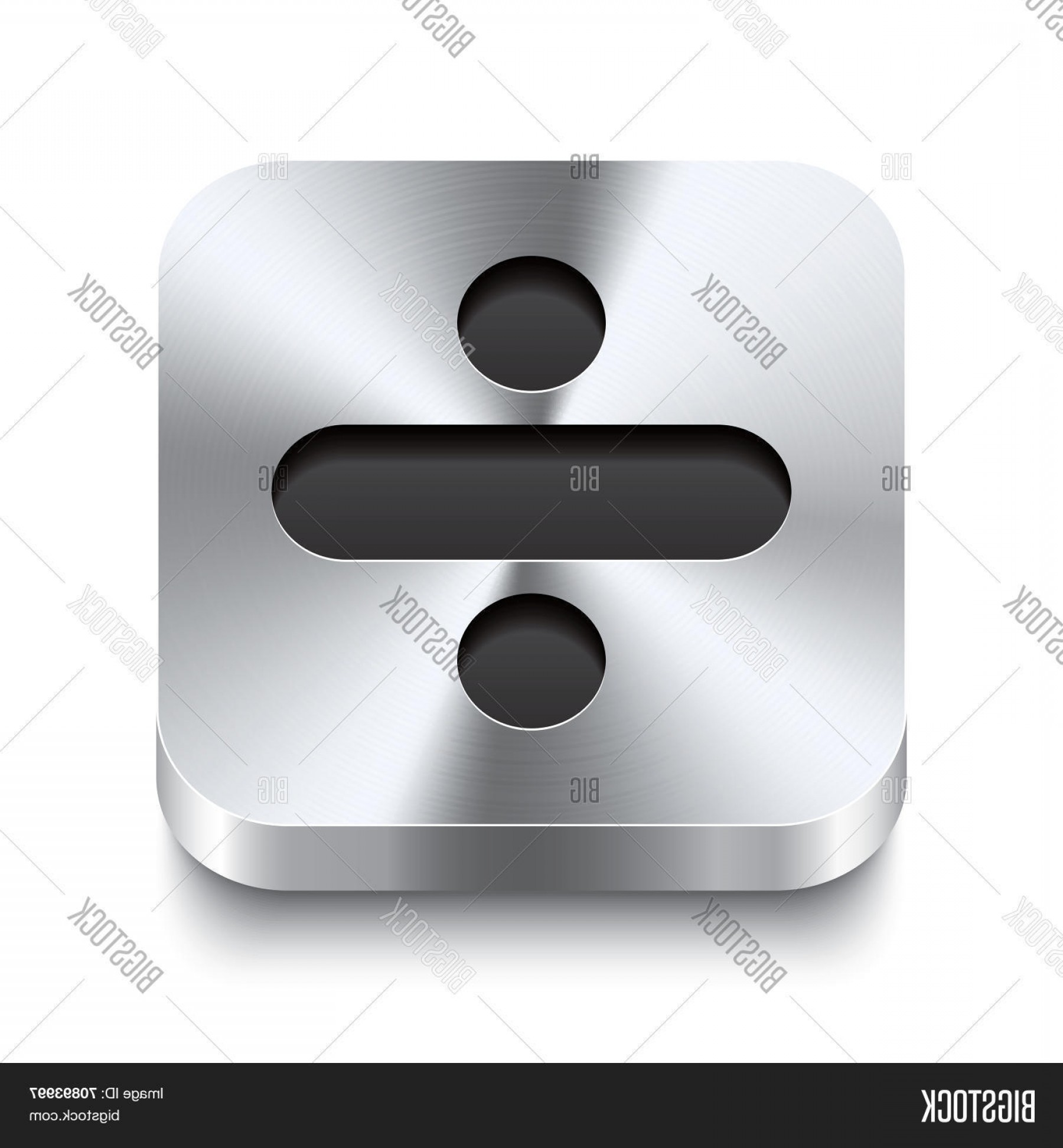Metal Button Vector: Stock Vector Square Metal Button Perspektive Minus Icon